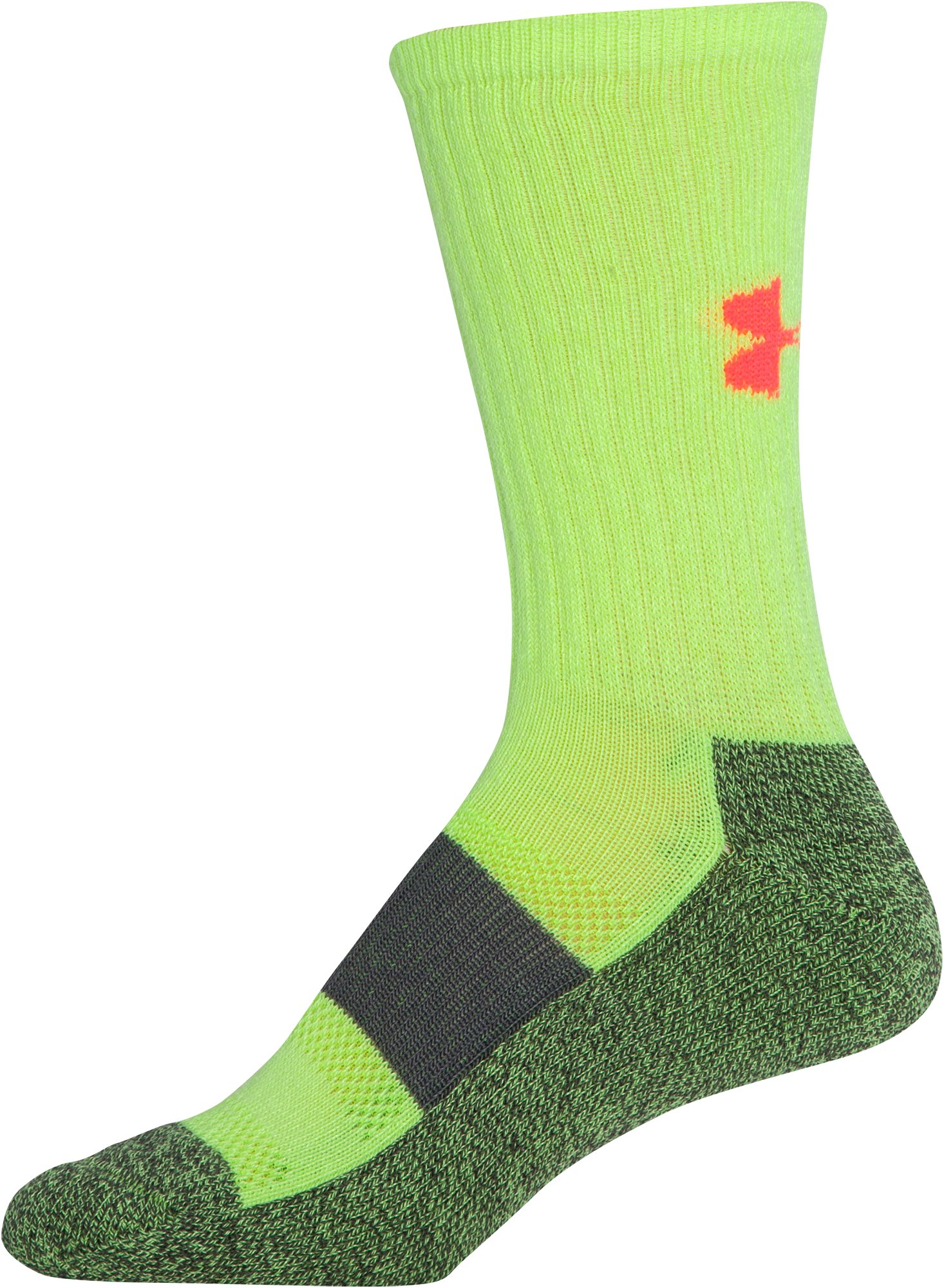 Women's UA Performance Crew Socks, X-Ray, zoomed image