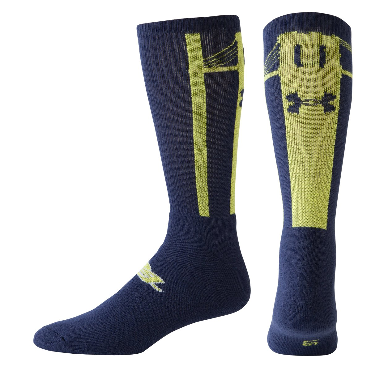 UA Elite 24 Basketball Socks, Bitter