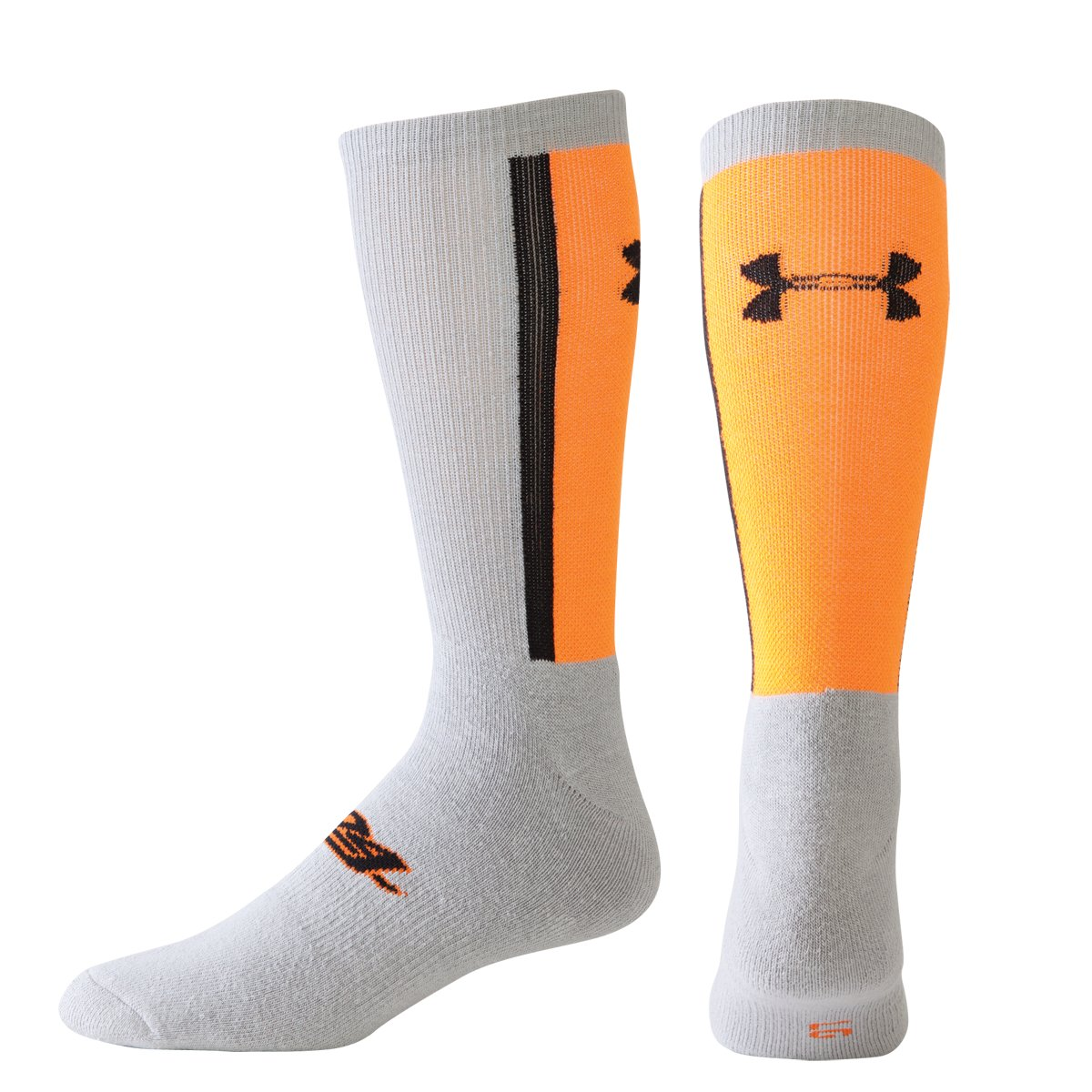 UA Elite 24 Basketball Socks, Blaze Orange