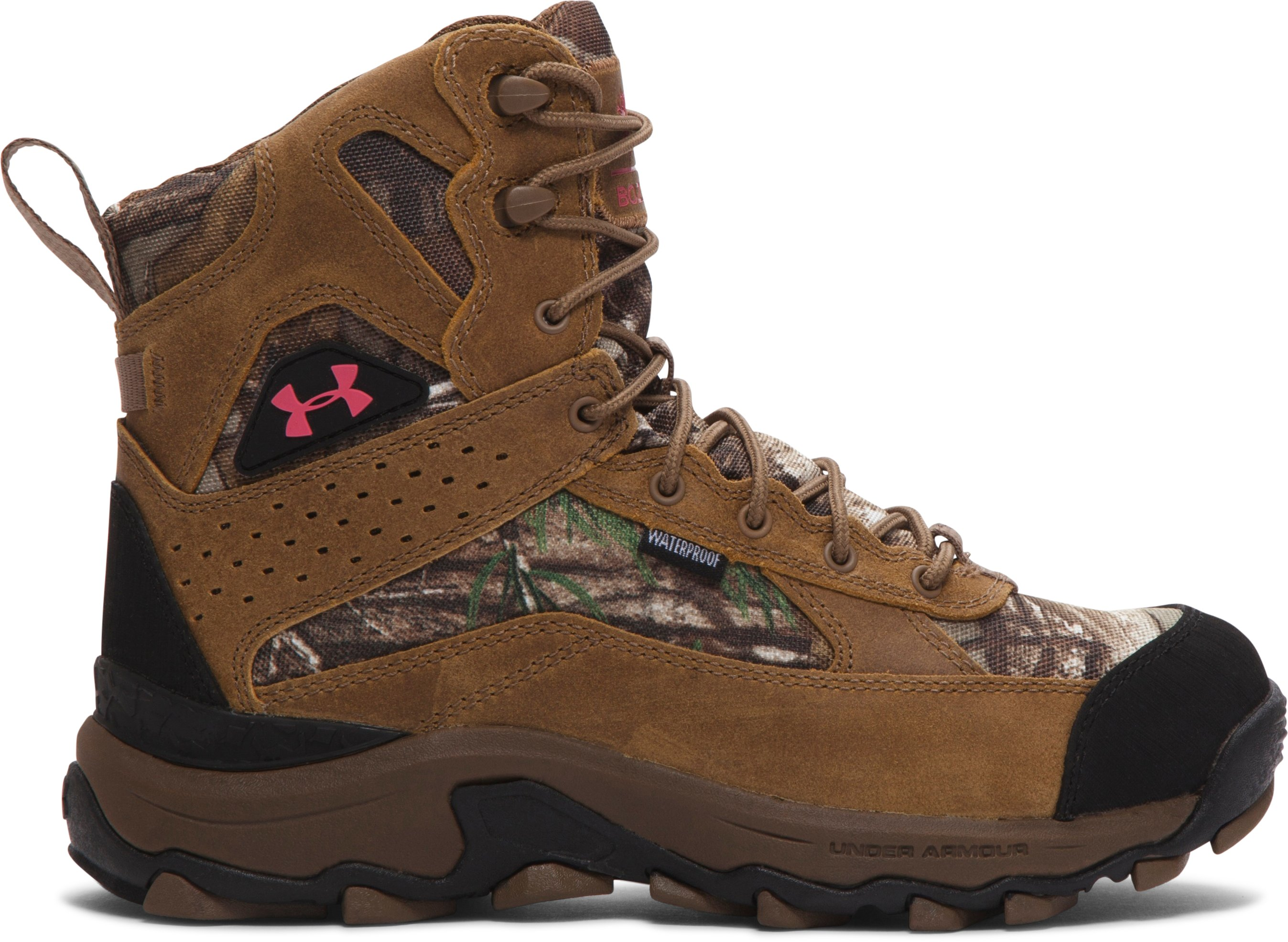 Women's UA Speed Freek Bozeman Hunting Boots, REALTREE AP-XTRA, undefined