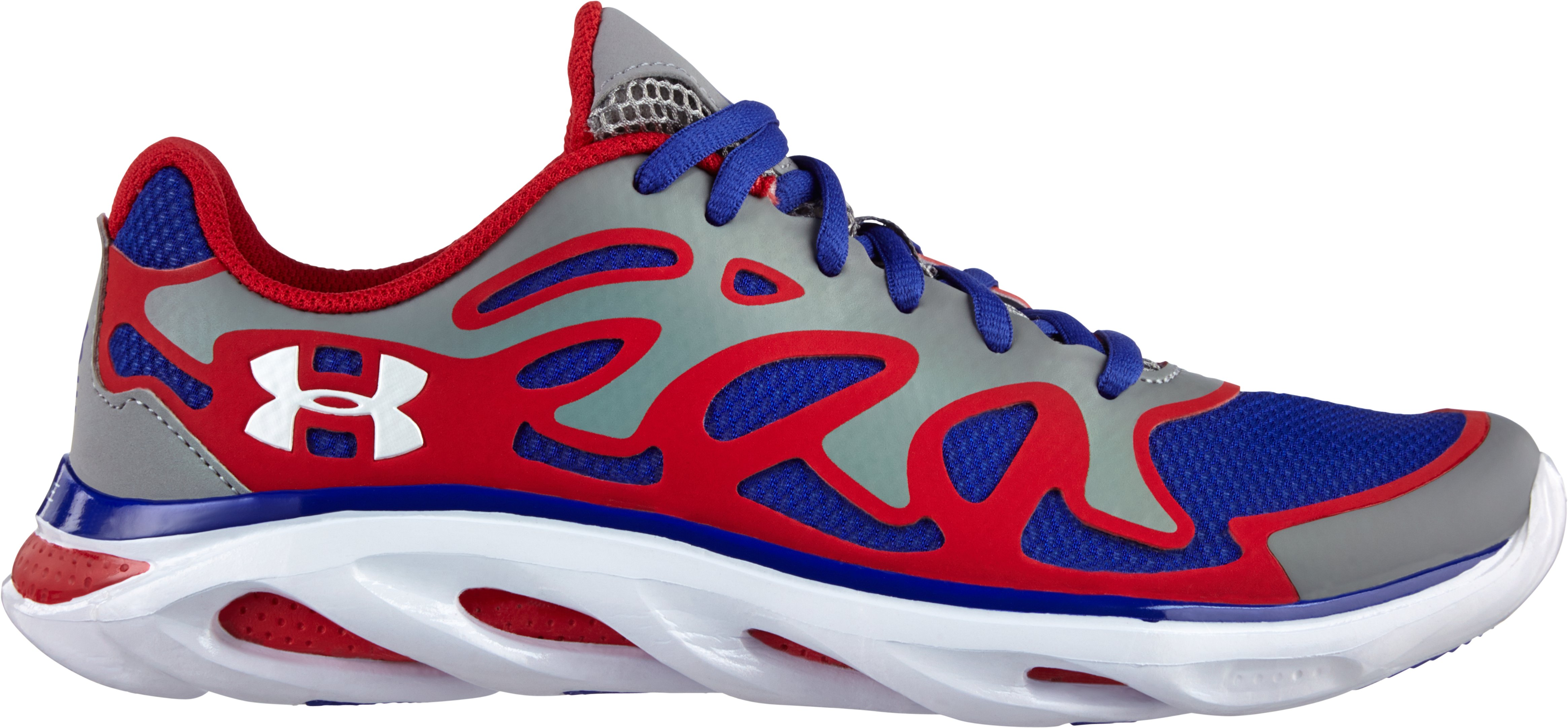 Boys' UA Spine™ Evo Grade School Running Shoes – Heroic Edition, Steel