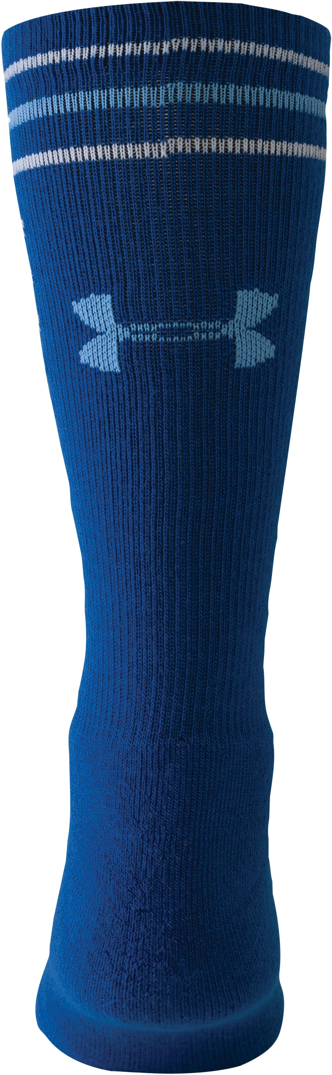Kids' UA Multi Stripe Crew Socks, Royal
