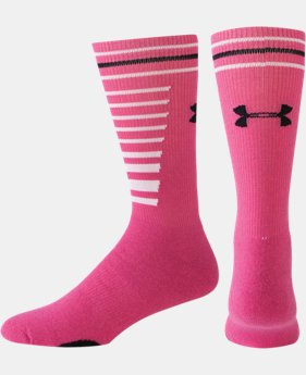 UA Multi-Stripe Crew Socks