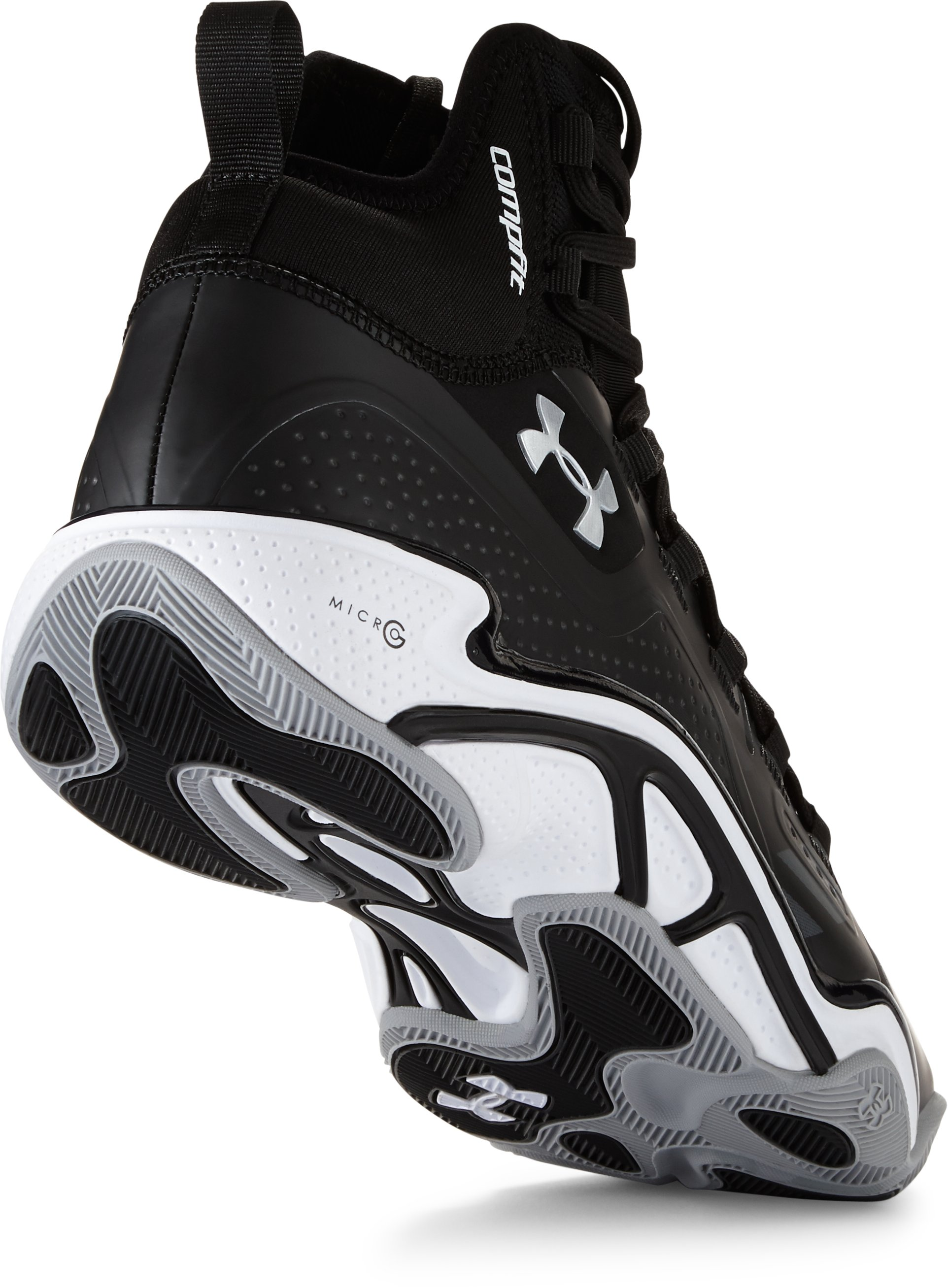 Men's UA Micro G® Pro Basketball Shoes, Black , undefined