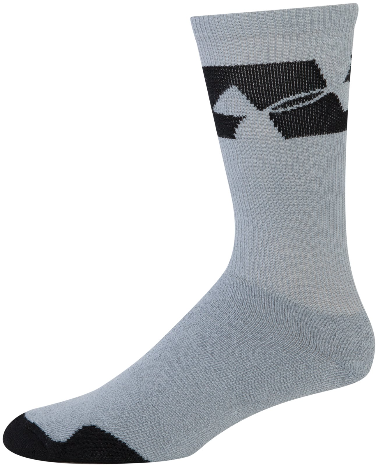 Men's UA Big Logo Crew Socks, Steel