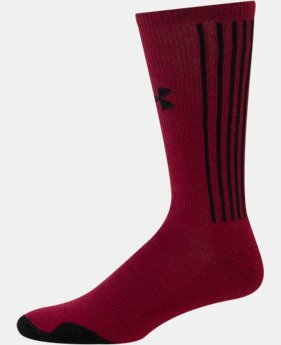 Men's UA Vertical Script Crew Socks