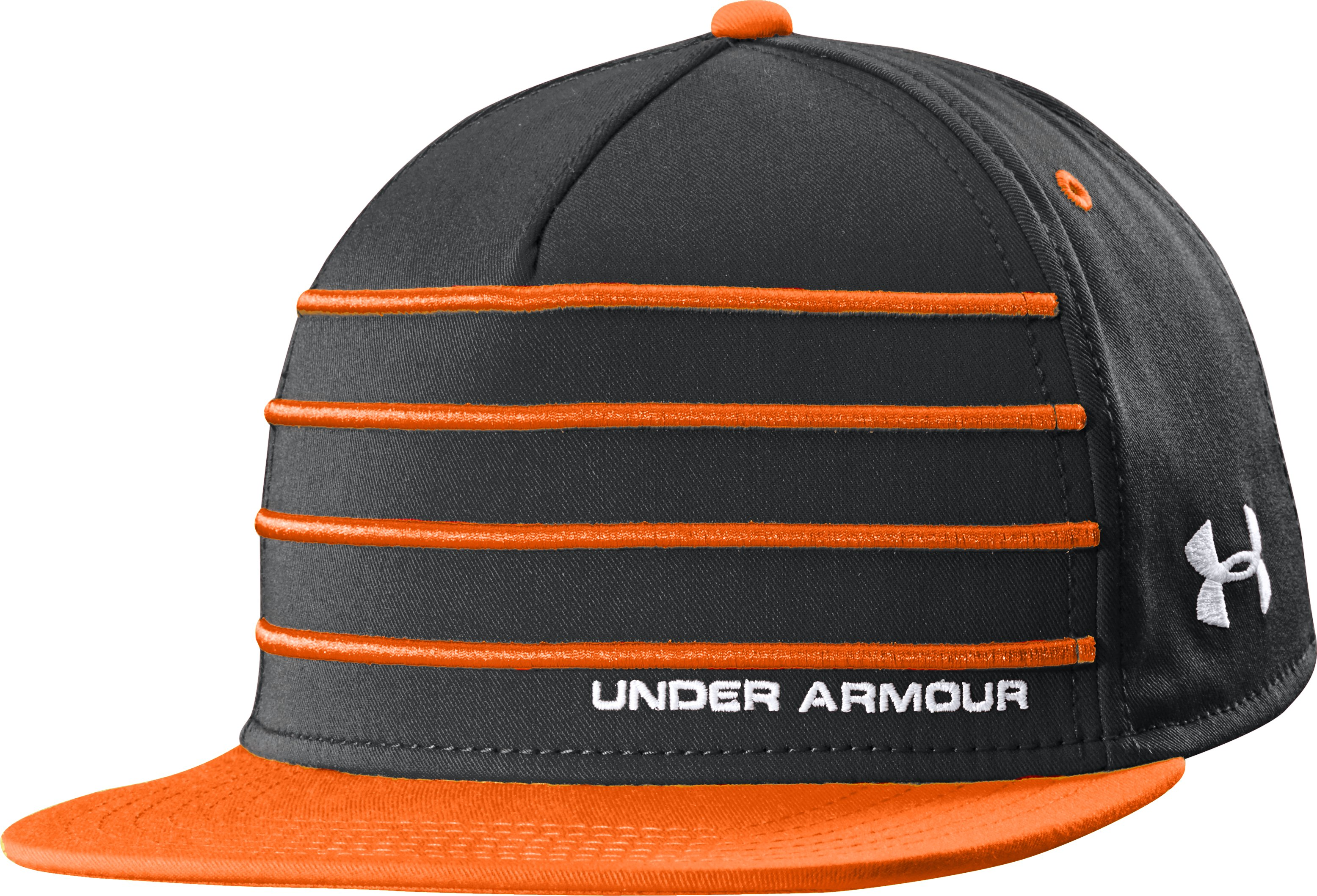 Men's UA Pipeline Flat Brim Cap, Black , zoomed image