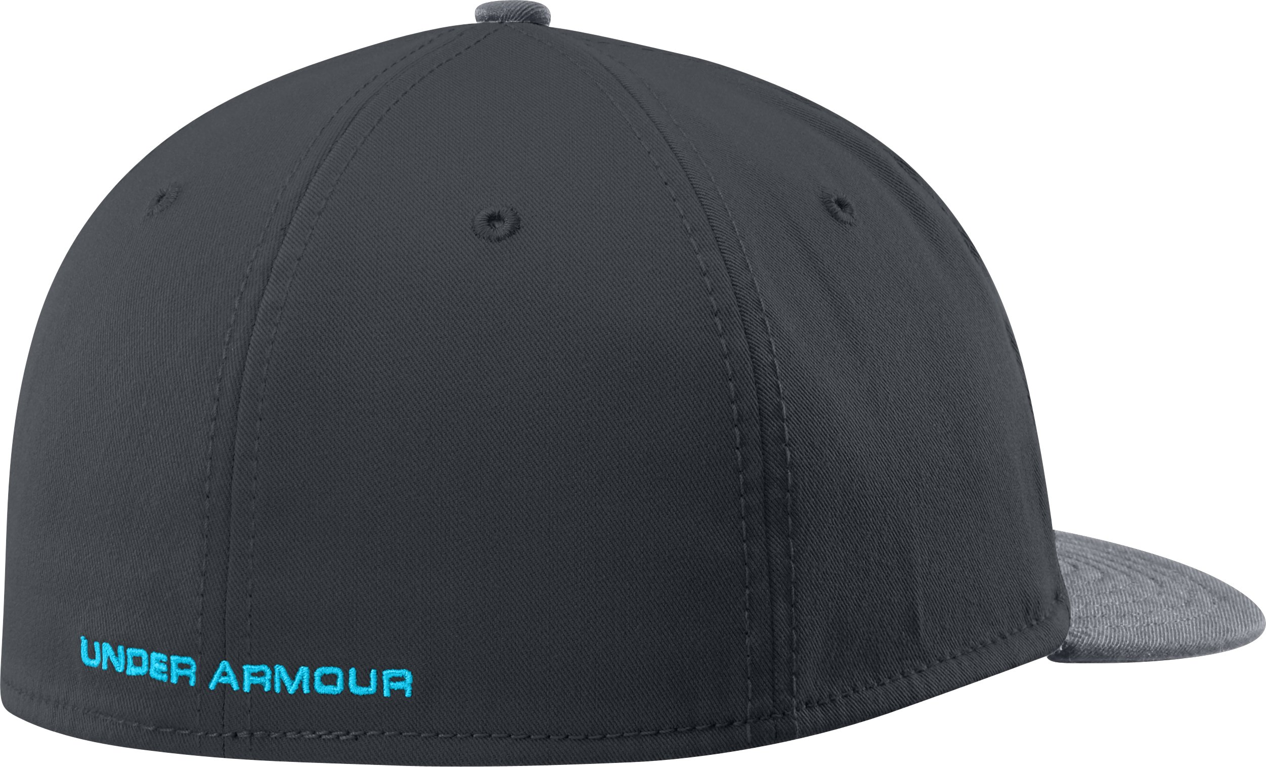 Men's UA Dominate Low Crown Stretch Fit Cap, ANTHRACITE