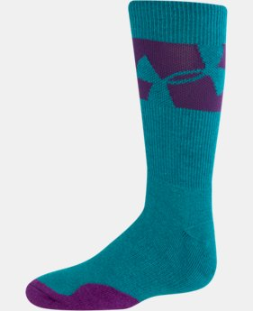 UA Girls' Big Logo Crew Socks LIMITED TIME: FREE U.S. SHIPPING 2 Colors $13.99