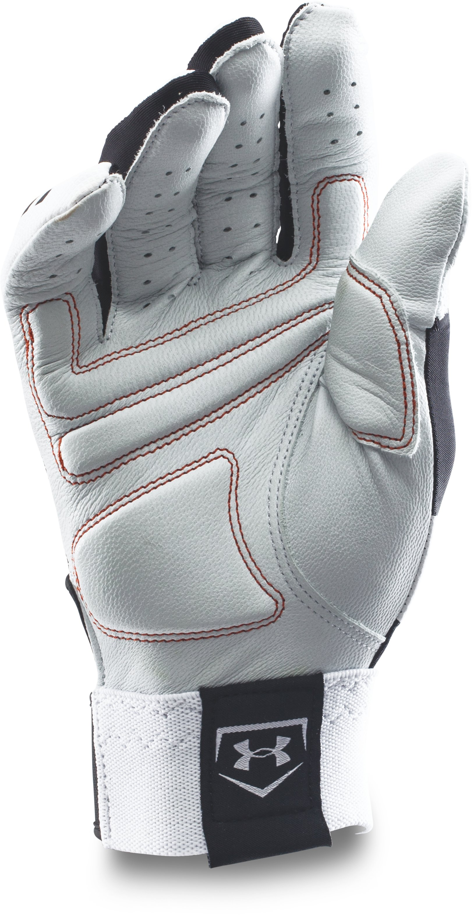 Men's UA Cage Baseball Batting Gloves, Black , undefined