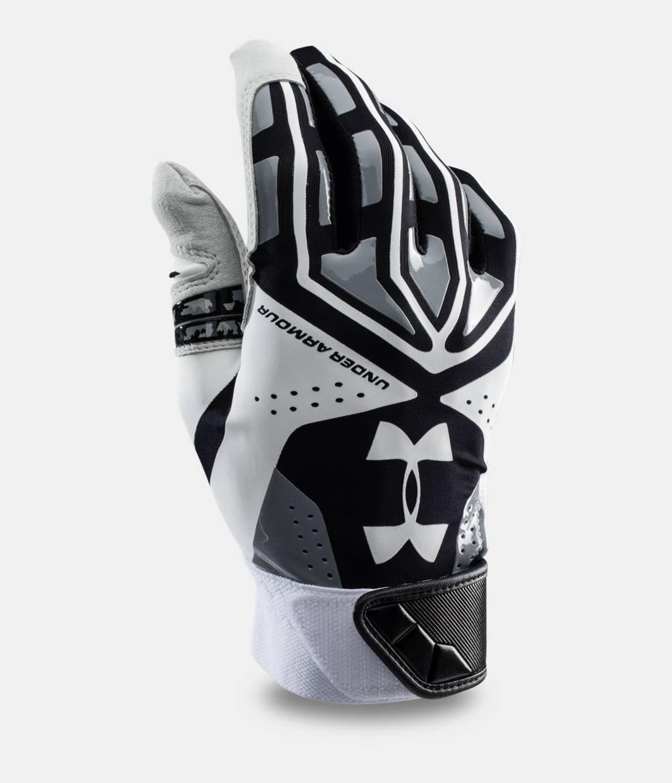 Black leather batting gloves - Men S Ua Motive Camo Baseball Batting Gloves Black Zoomed Image