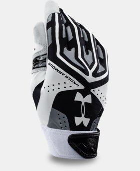 Boys' UA Motive Camo Baseball Batting Gloves