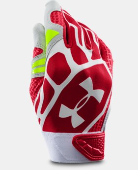 Boys' UA Motive II Baseball Batting Gloves