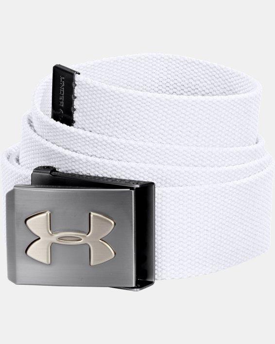 UA Webbed Belt, White, pdpMainDesktop image number 0