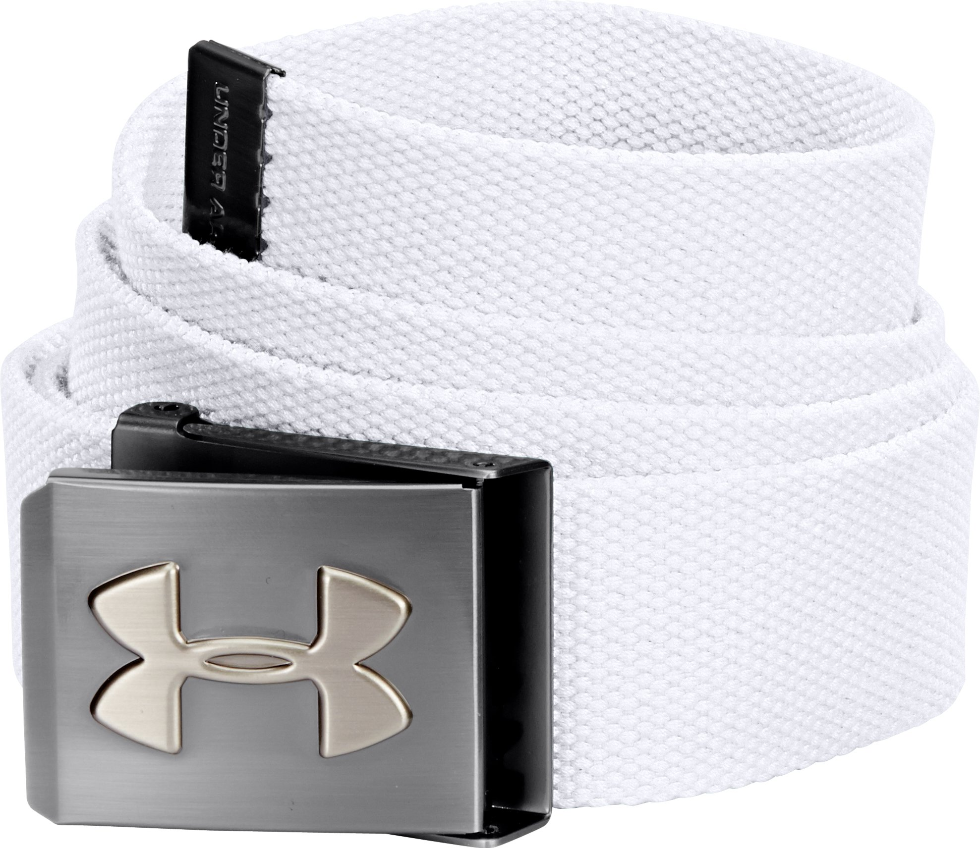 UA Webbed Belt, White, zoomed image