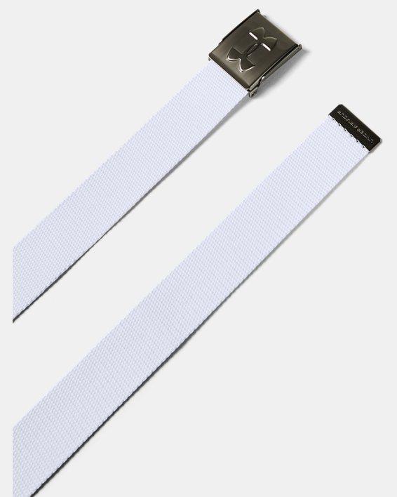 UA Webbed Belt, White, pdpMainDesktop image number 1
