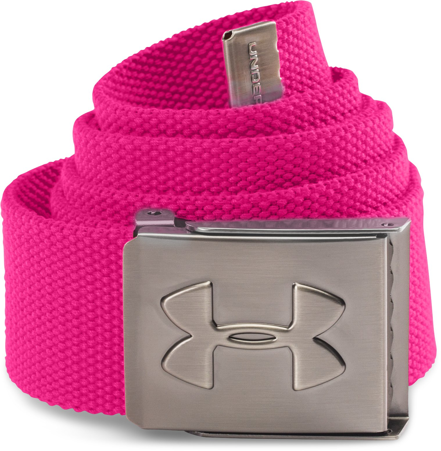 UA Webbed Belt, Tropic Pink, zoomed image
