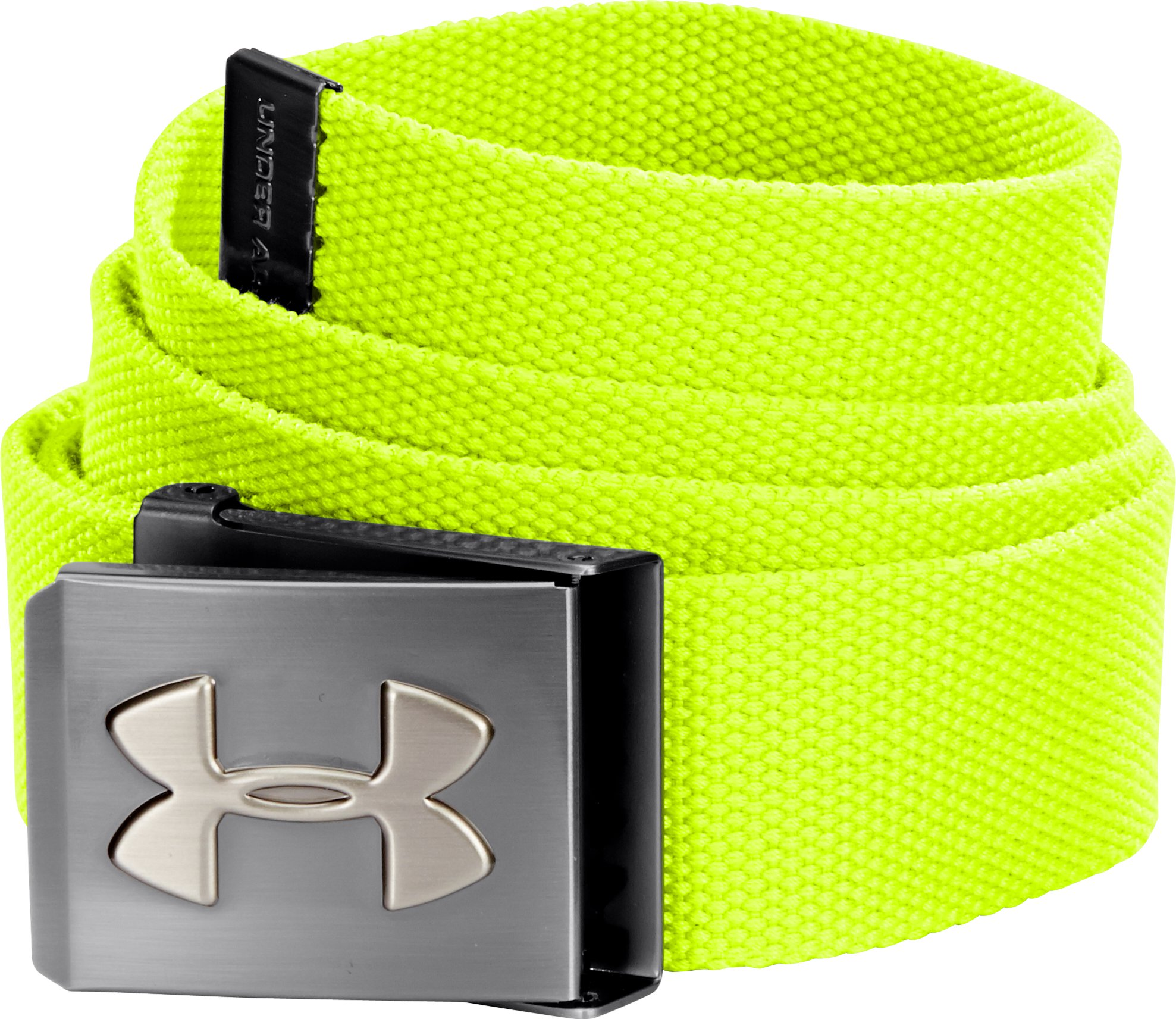 UA Webbed Belt, High-Vis Yellow, undefined