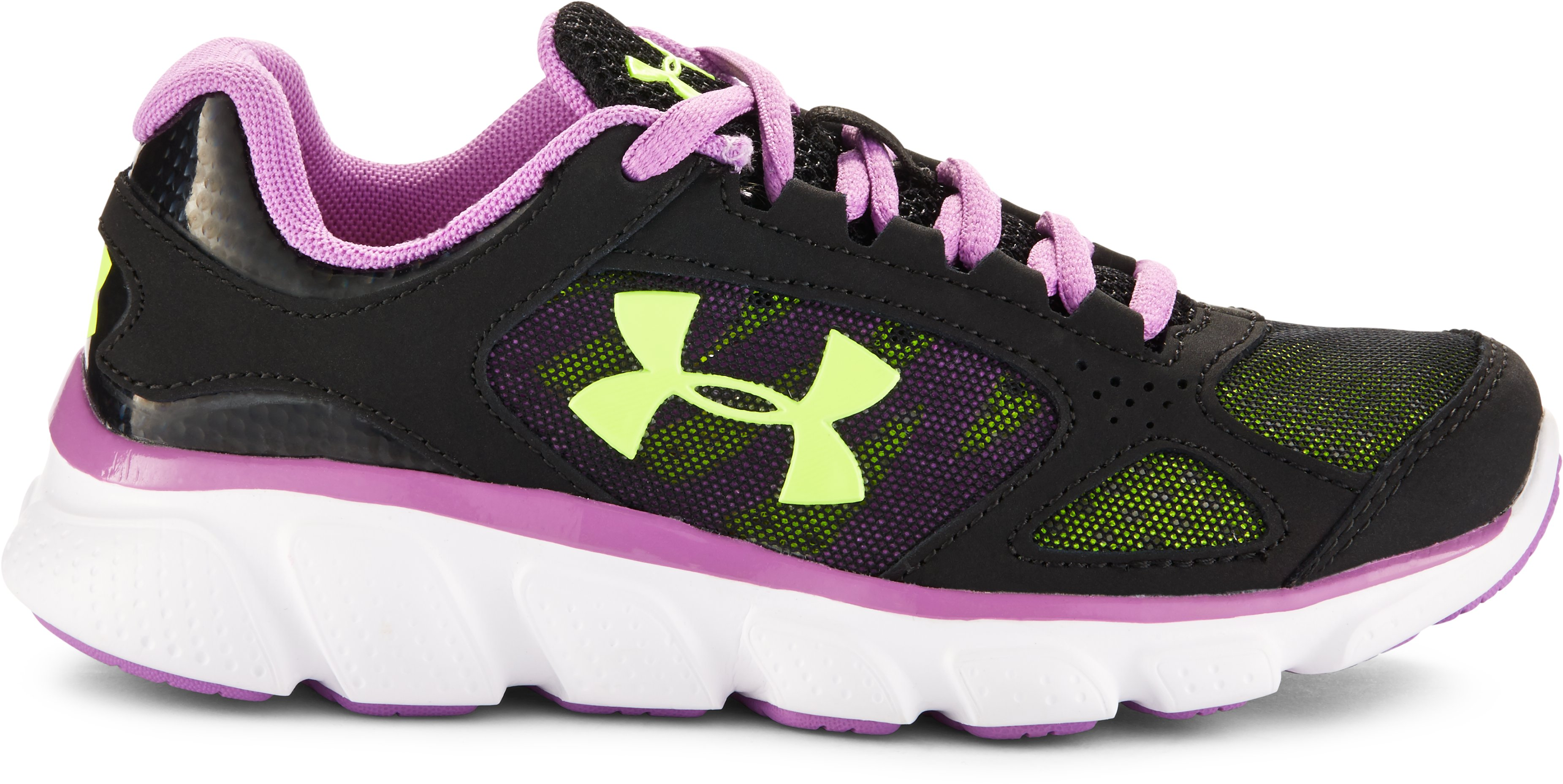 Girls' Pre-School UA Assert V, Black , zoomed image