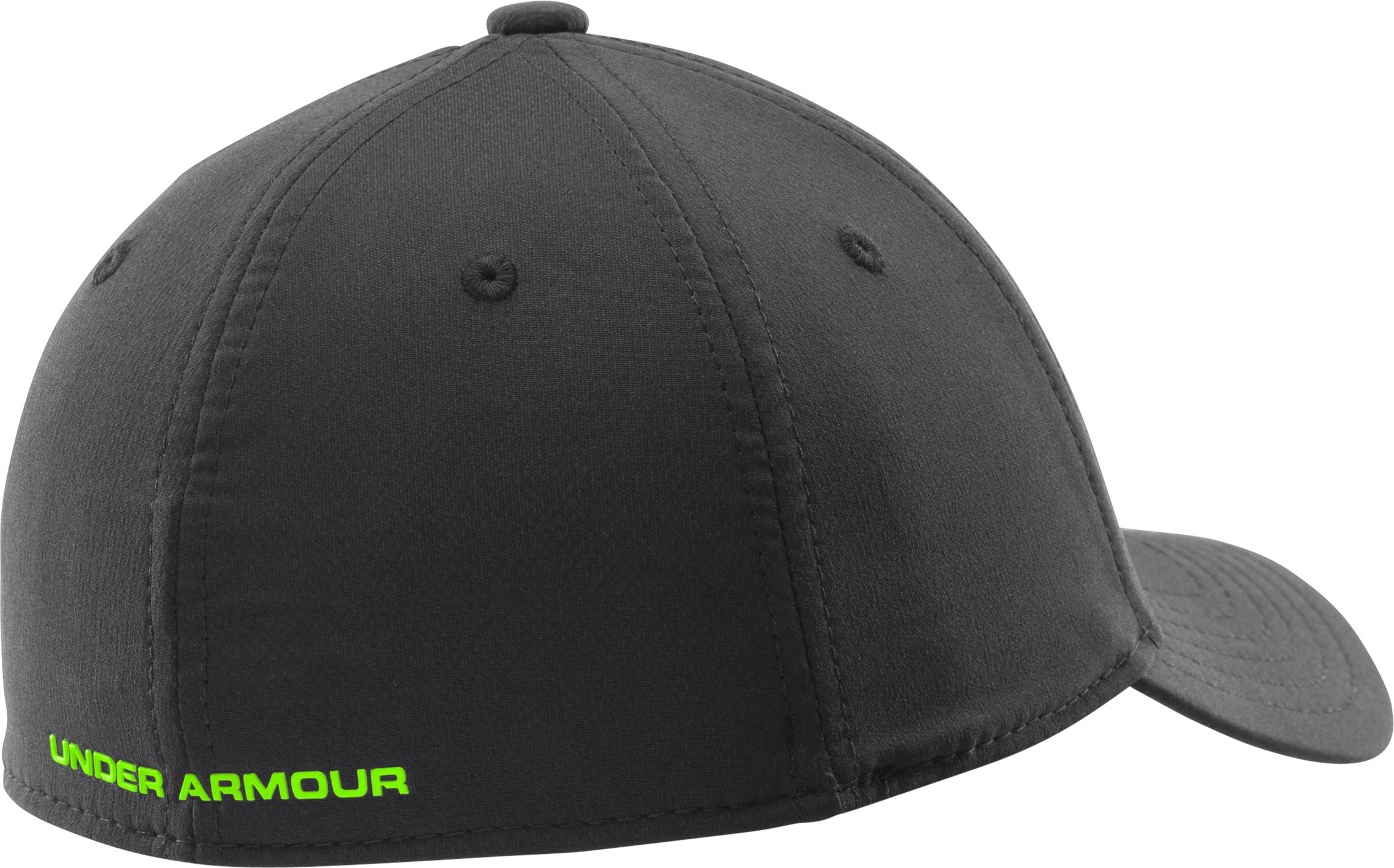 Boys' UA Textured Logo Stretch Fit Cap, Black