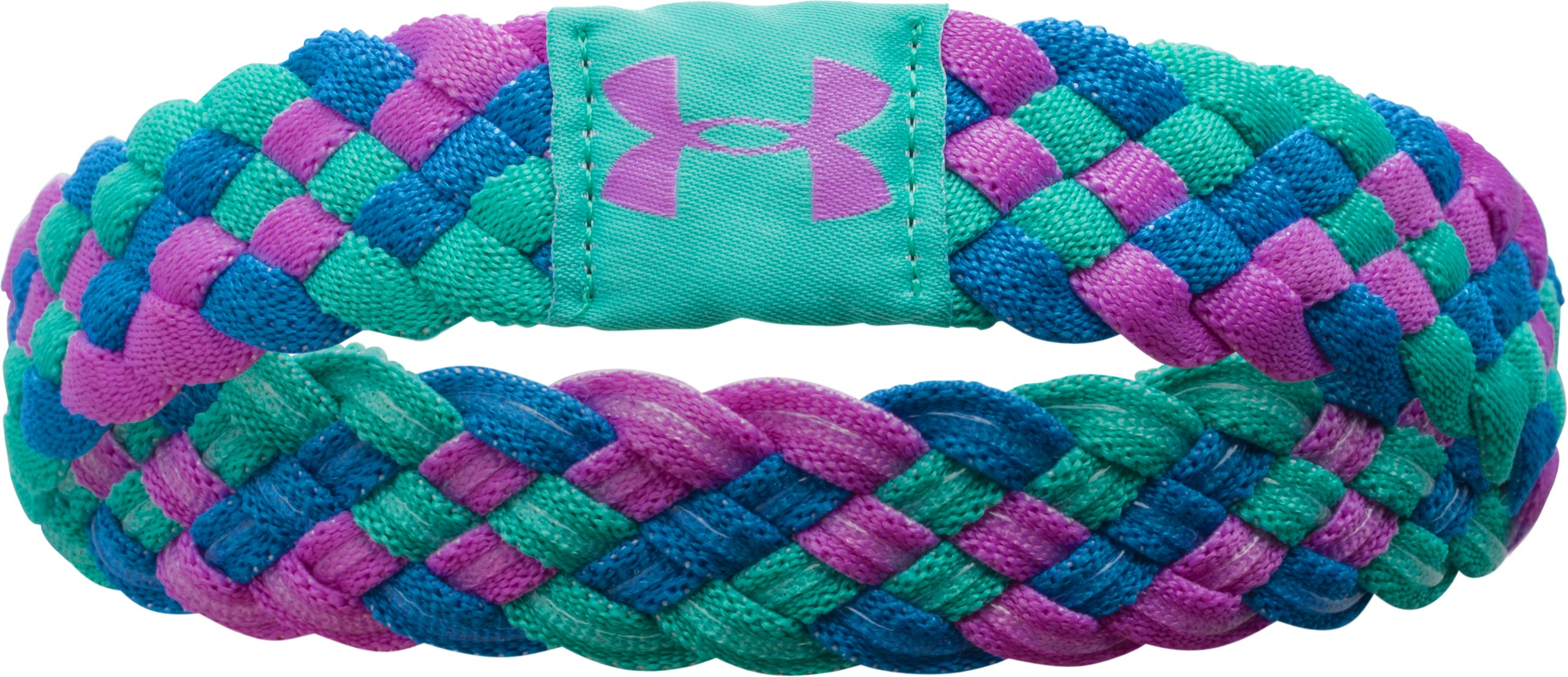 Girls' UA Multibraid Headband, EXOTIC BLOOM, undefined