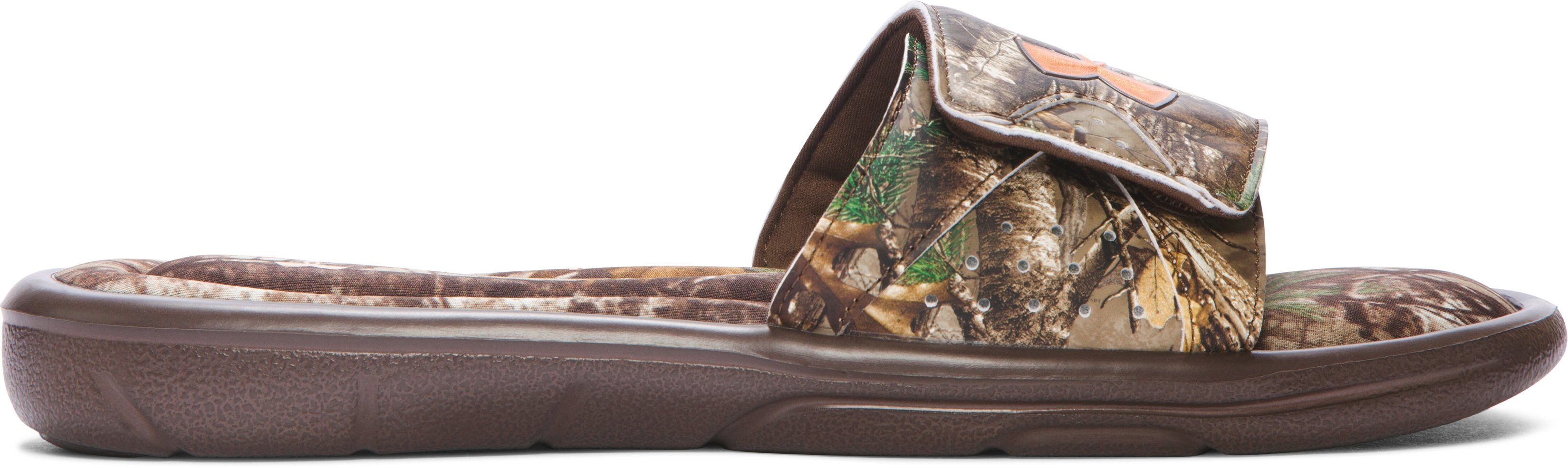 Men's UA Ignite Camo Slide Sandals, REALTREE AP-XTRA