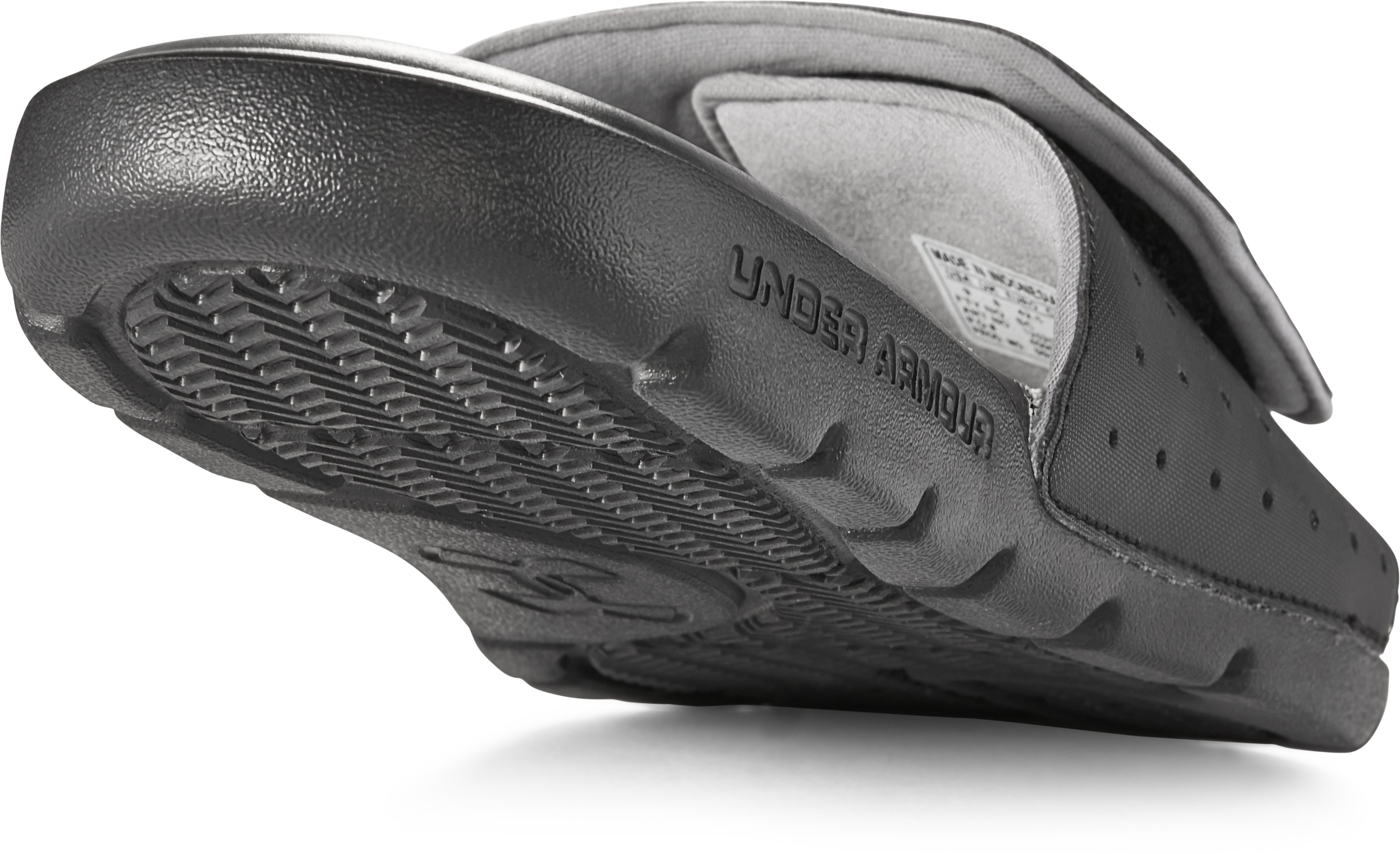 Men's UA Playmaker Slides V, Black