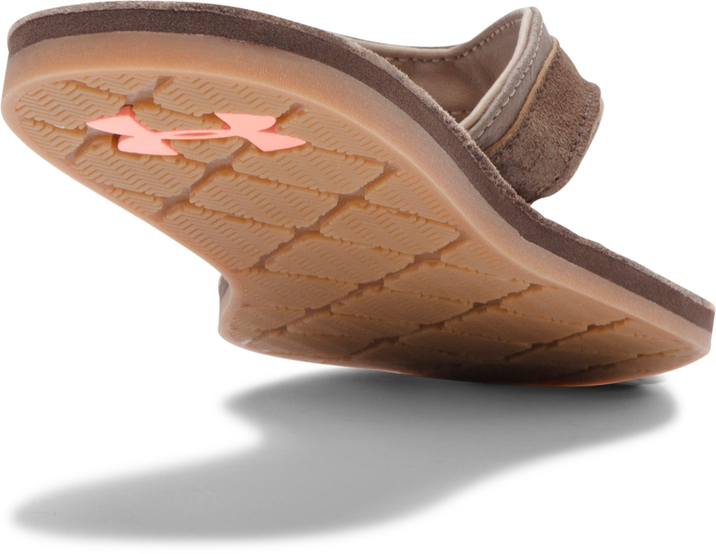 Women's UA TropicFlo Leather Sandals, Cleveland Brown