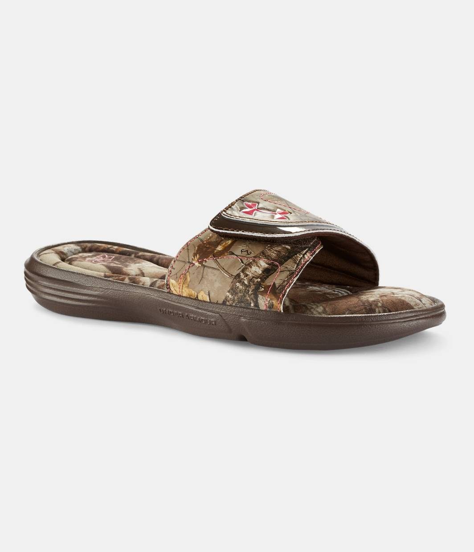 Womens Under Armour Women's UA Ignite Camo VII SL Sandal On Sale Size 38
