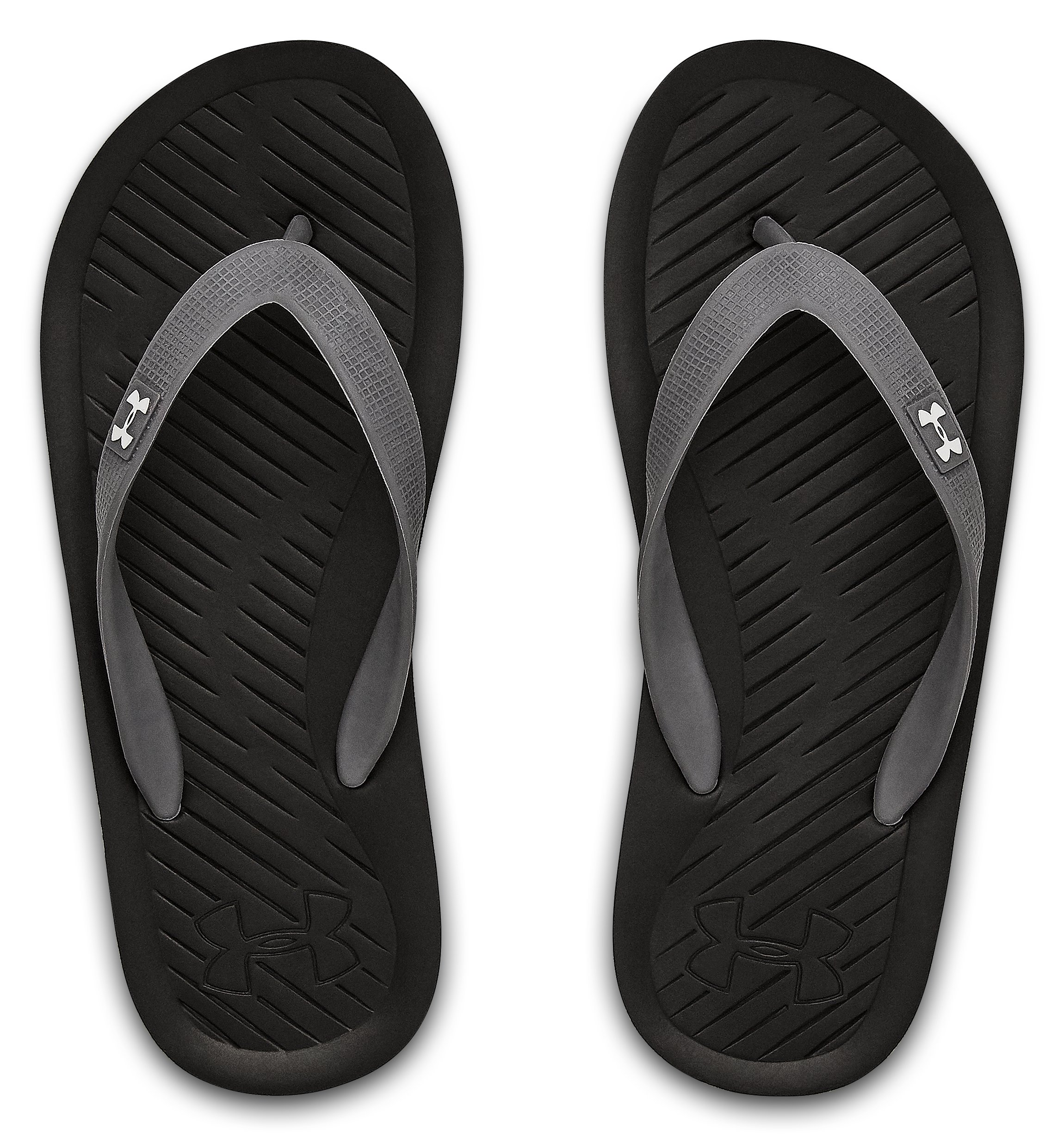 Boys' UA Atlantic Dune Sandals, Black ,