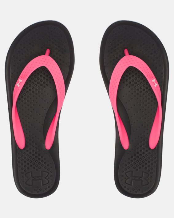 Girls' UA Atlantic Dune Sandals, Black, pdpMainDesktop image number 4
