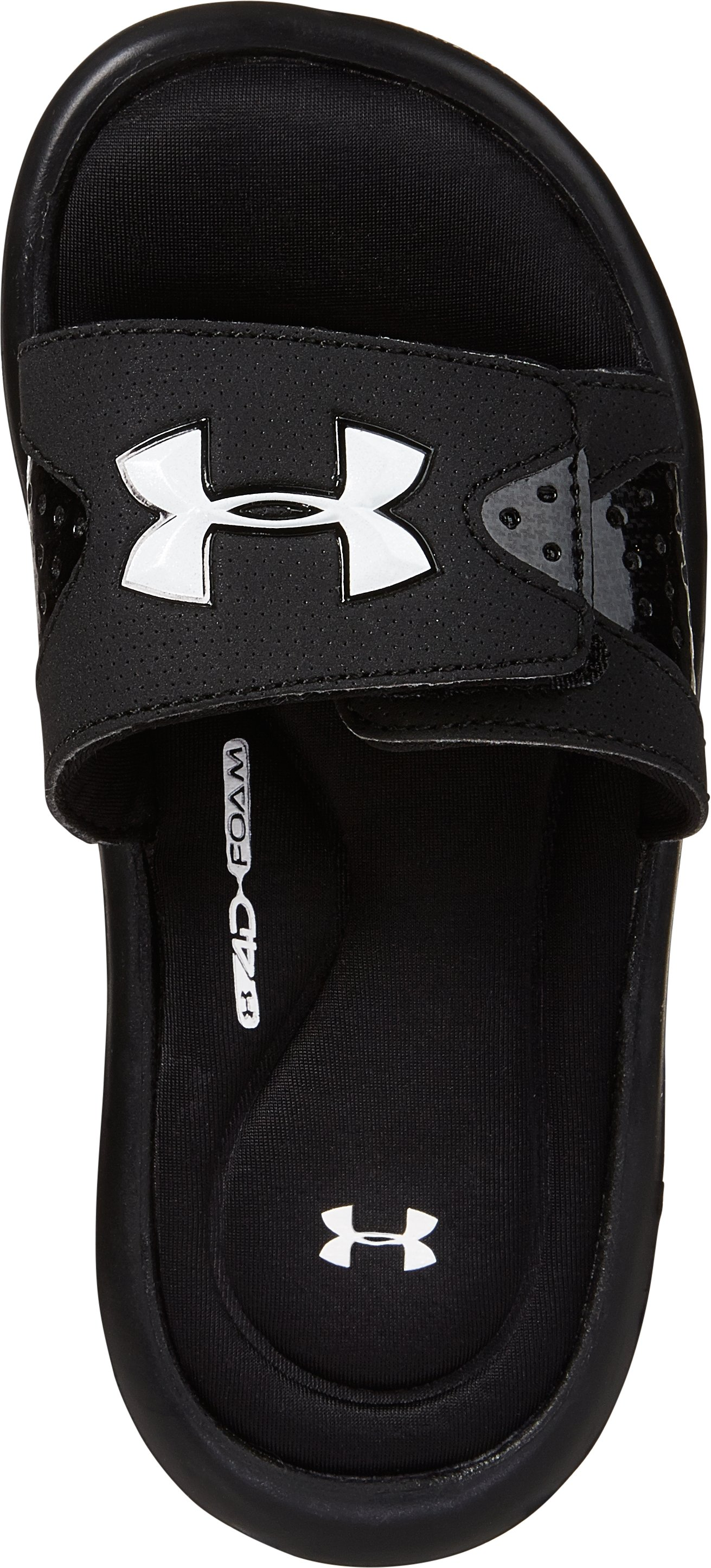 Boys' UA Ignite Slide Sandals, Black , undefined