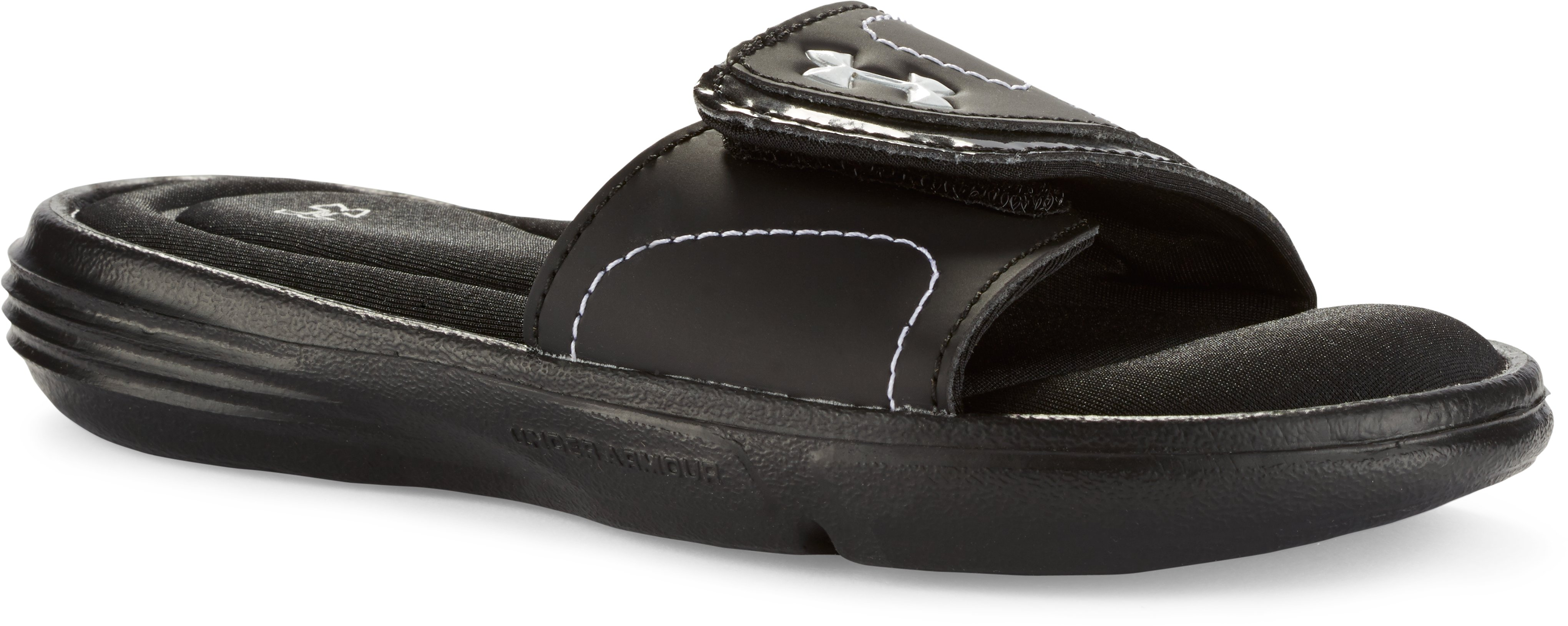 Girls' UA Ignite VII Sandals, Black ,