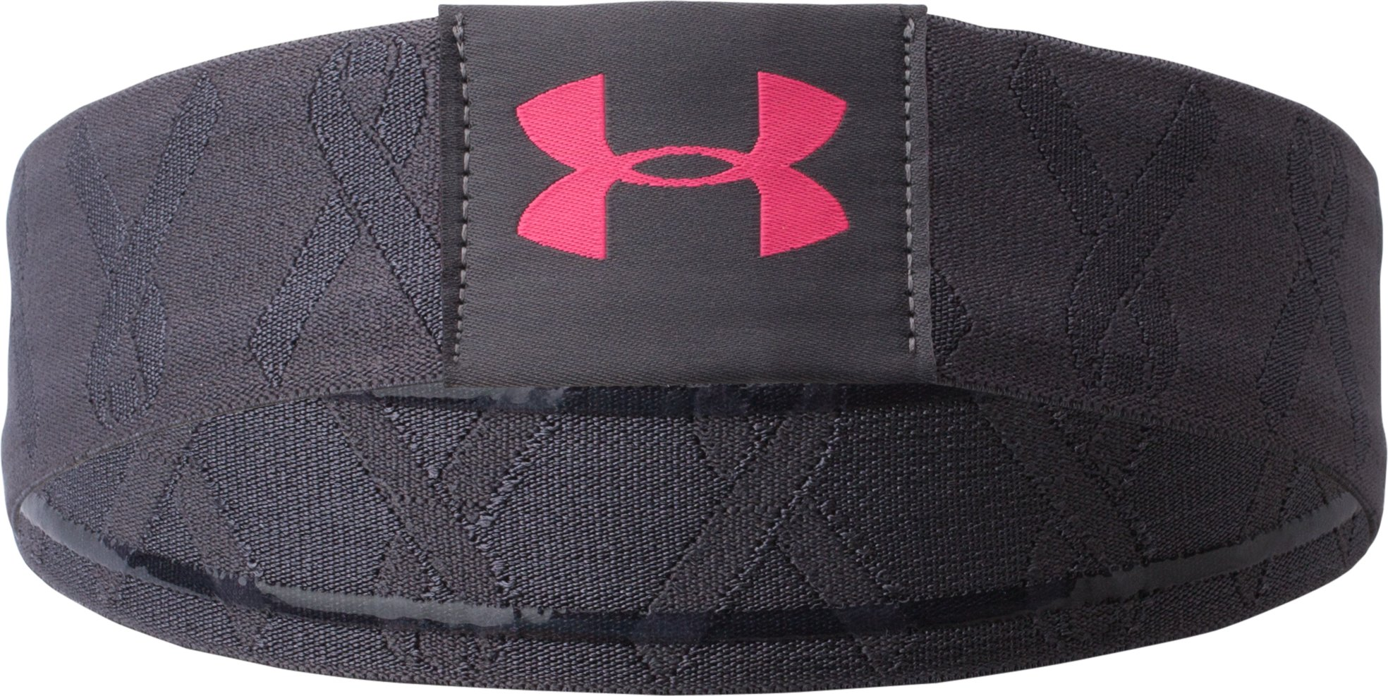 Women's UA Power In Pink® Elevate Headband, Lead, zoomed image
