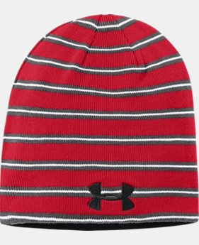 Boys' UA Stripe Reversible Beanie  1  Color Available $21.99