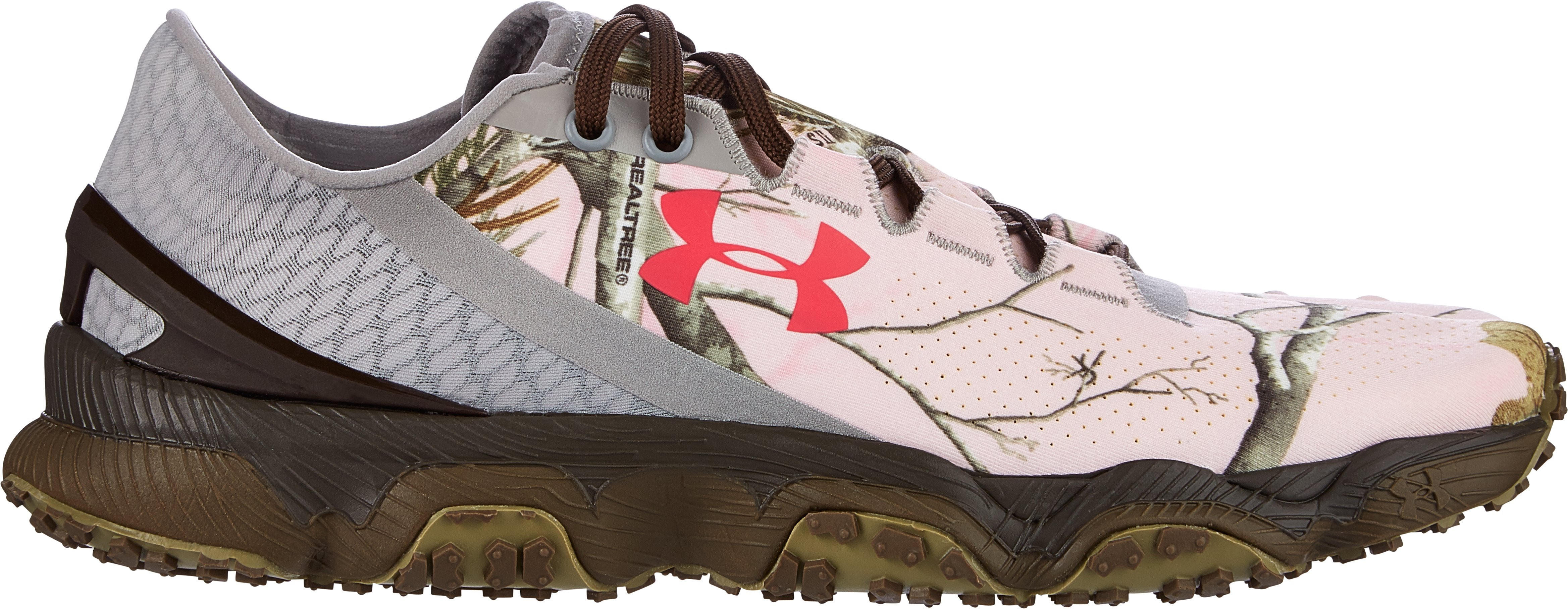 Women's UA SpeedForm® XC Camo Trail Running Shoes, Realtree Ap Pink, zoomed image
