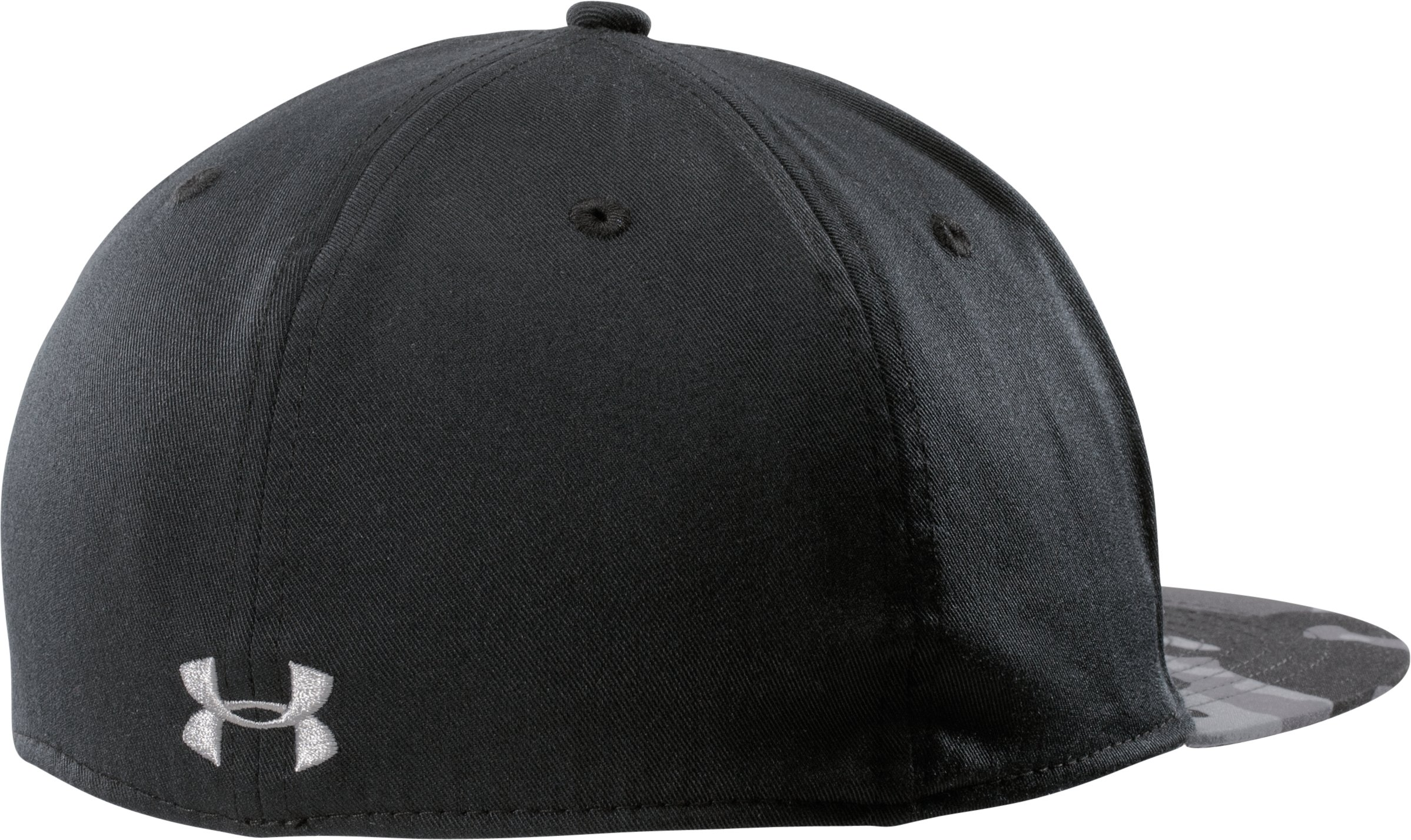 Men's UA Prime Flat Brim Stretch Fit Cap, Black