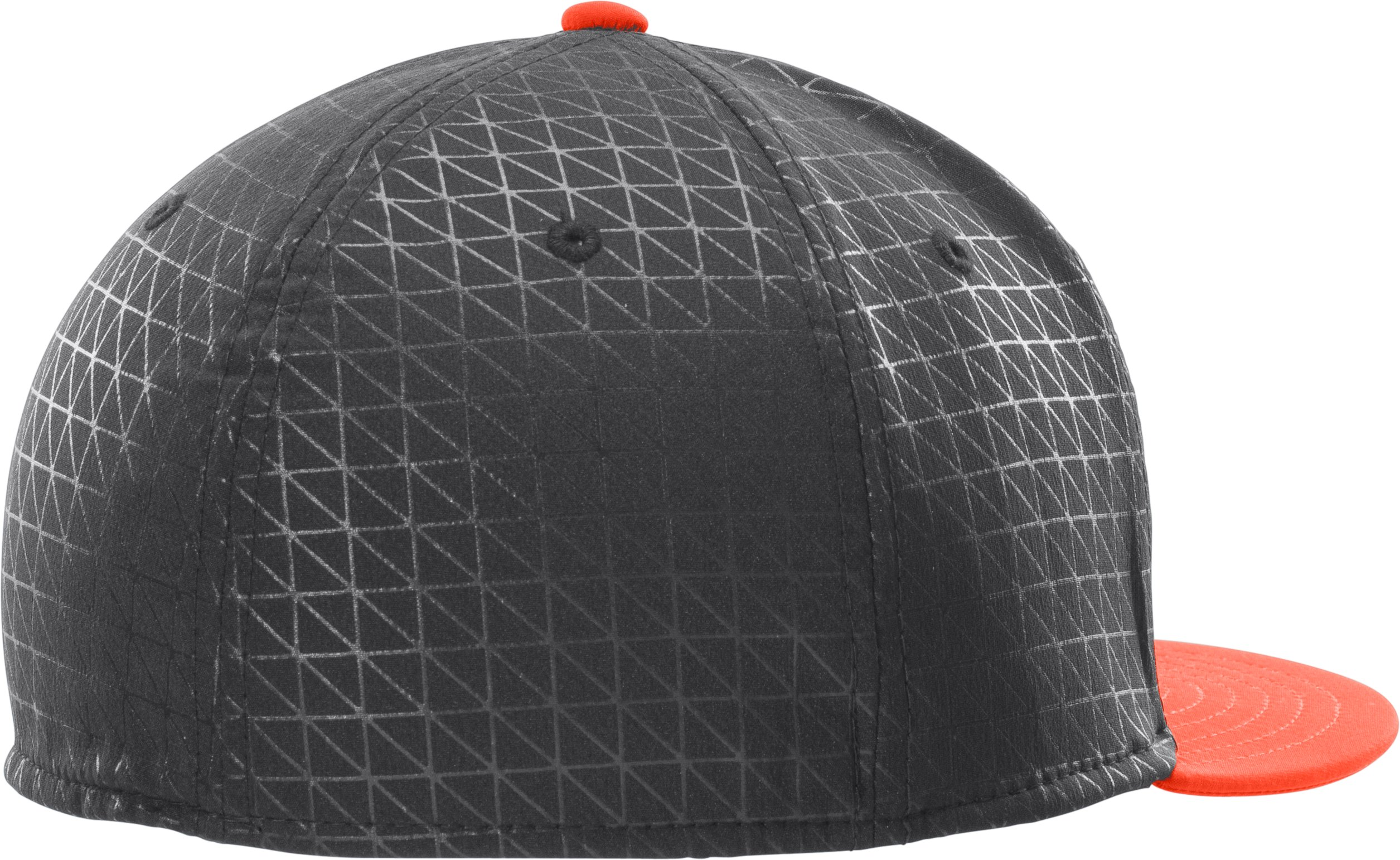 Men's UA Printed Flat Brim Stretch Fit Cap, Black