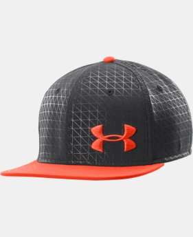 Men's UA Printed Flat Brim Stretch Fit Cap