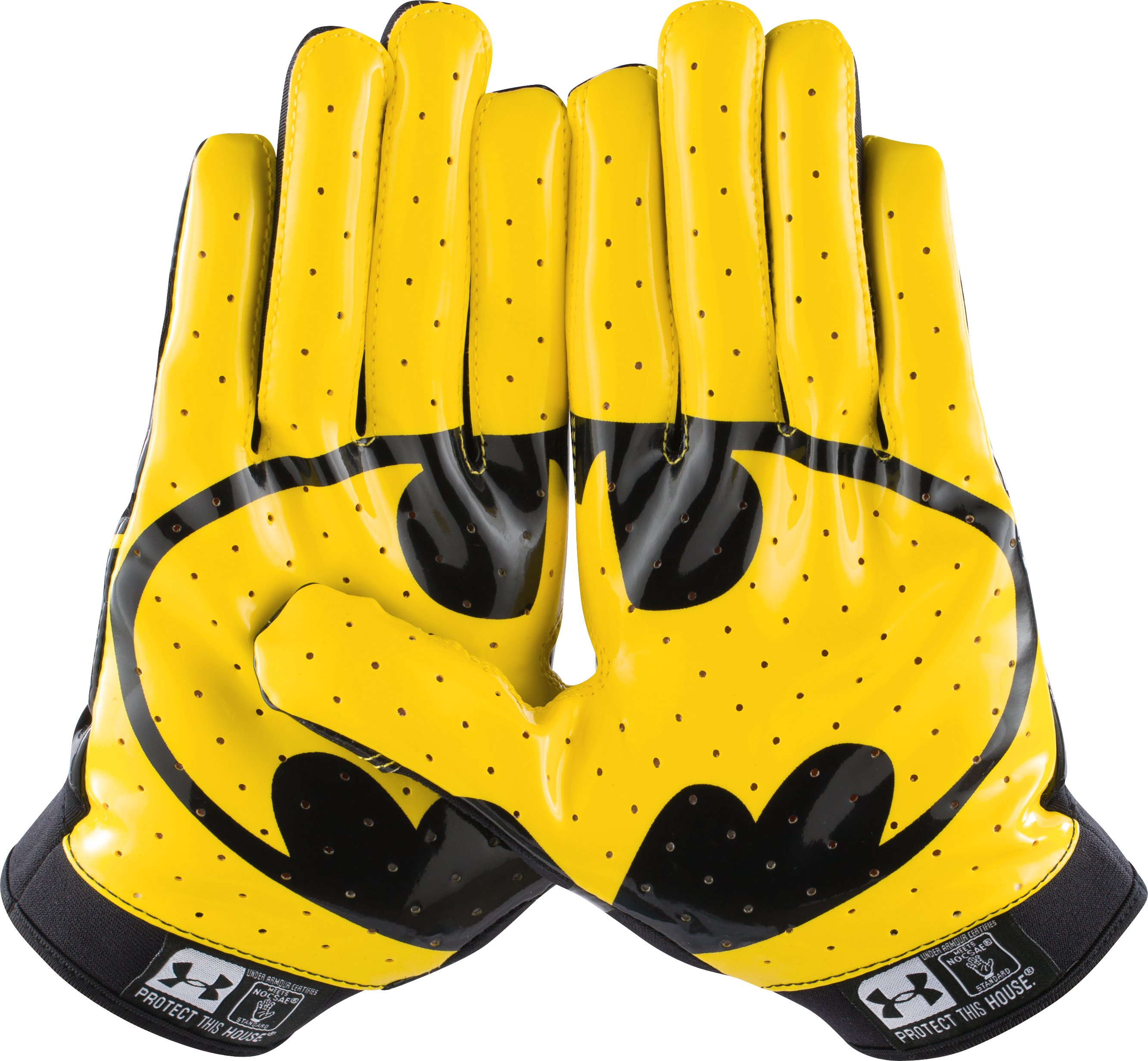Men's Under Armour® Alter Ego F4 Football Gloves, Black ,