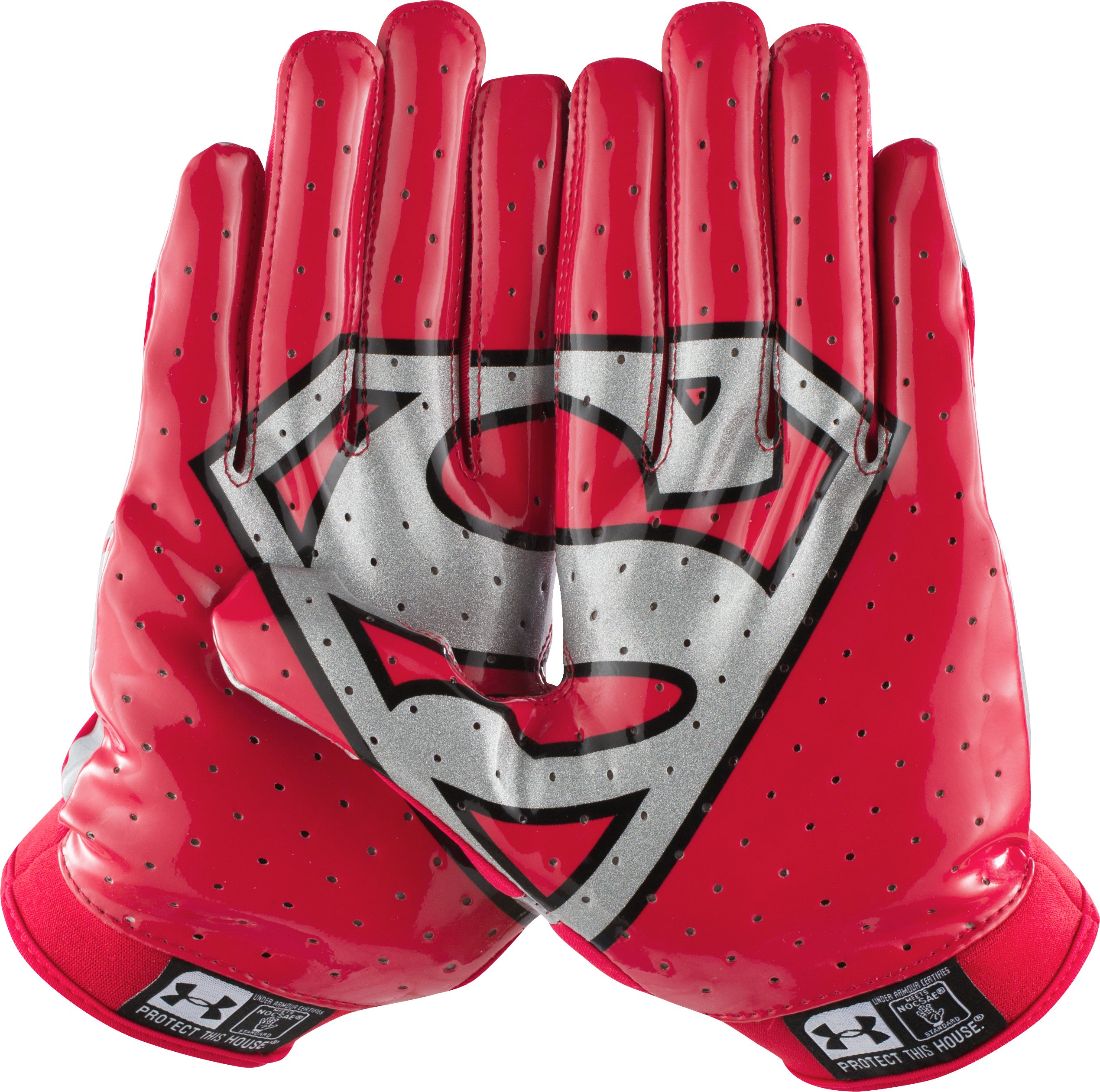 Men's Under Armour® Alter Ego F4 Football Gloves, Red, undefined