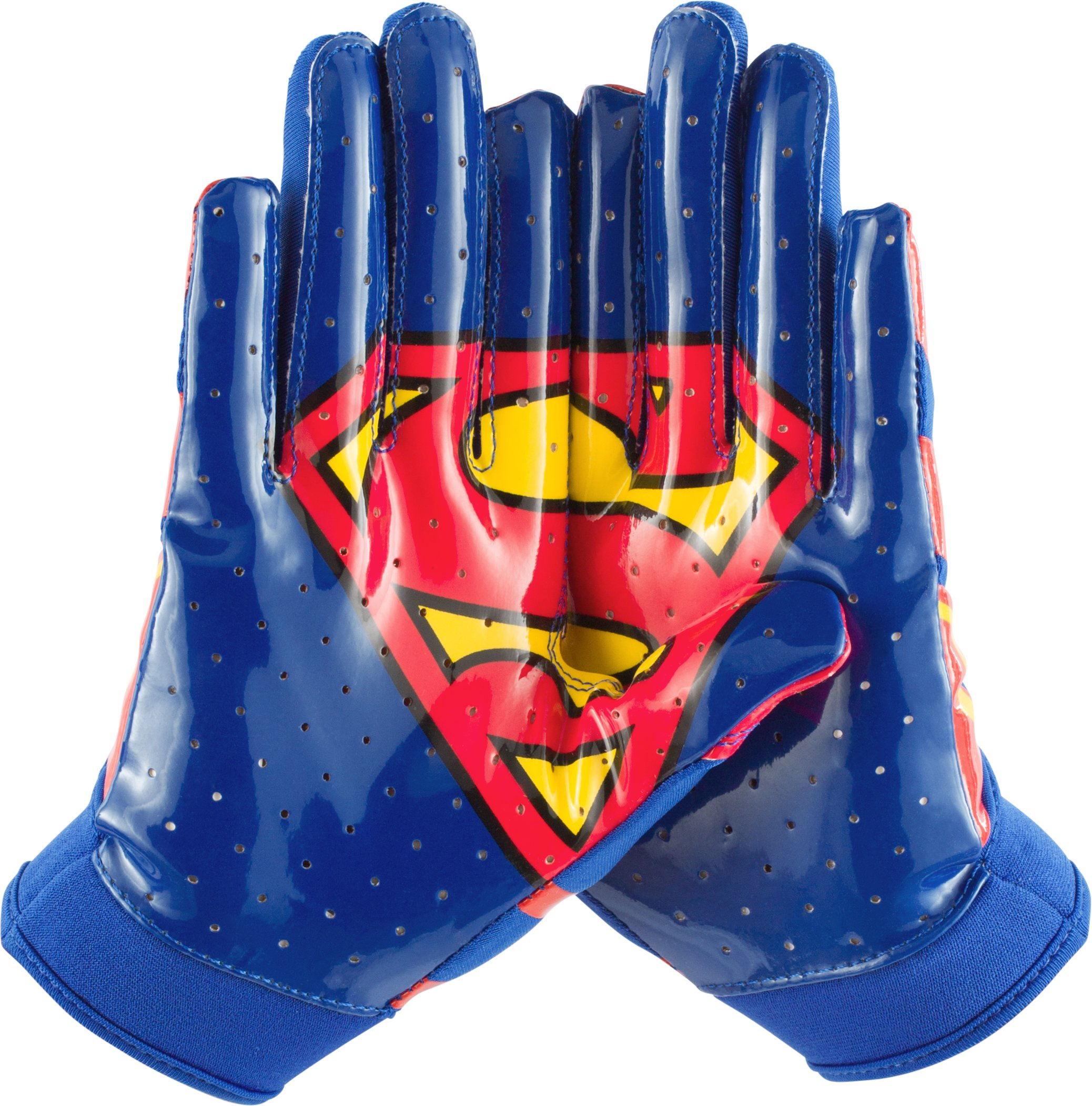 Boys' Under Armour® F4 Football Gloves, Royal, zoomed image