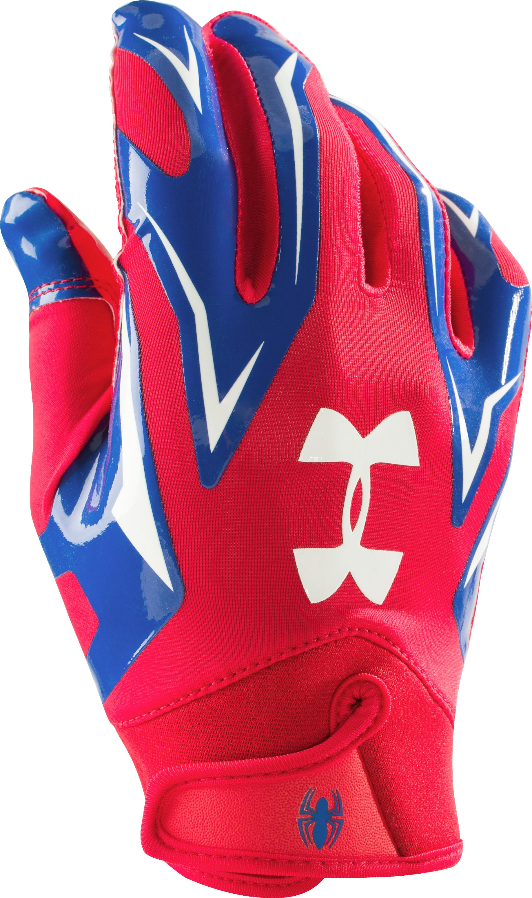 Boys' Under Armour® Alter Ego F4 Football Gloves, Red, undefined