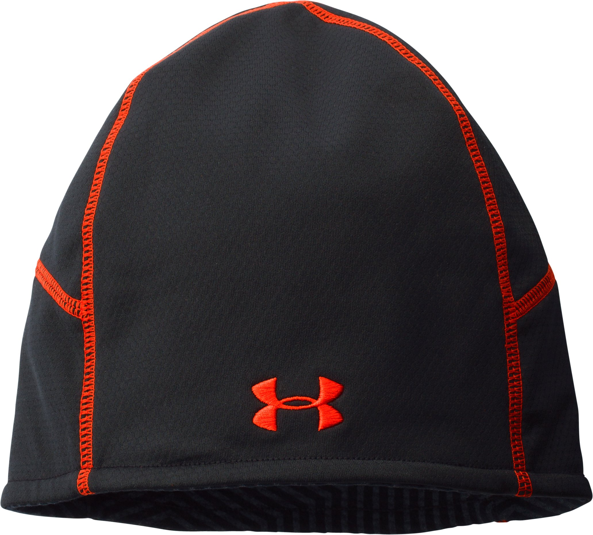 Men's UA ColdGear® Infrared Thermo Run Beanie, Black , zoomed image