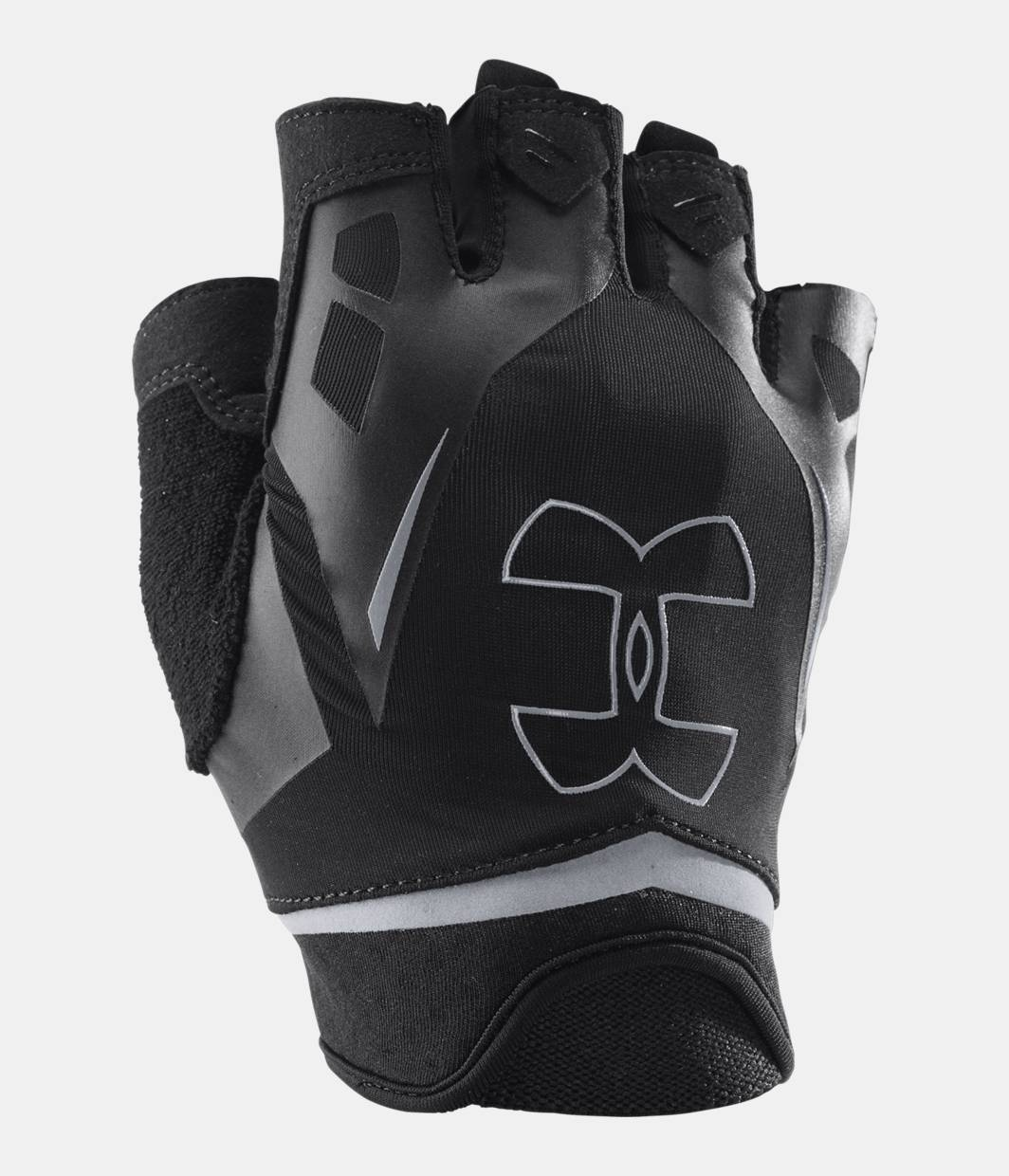 Mens sizes in gloves - Men S Ua Flux Half Finger Training Gloves Black Zoomed Image
