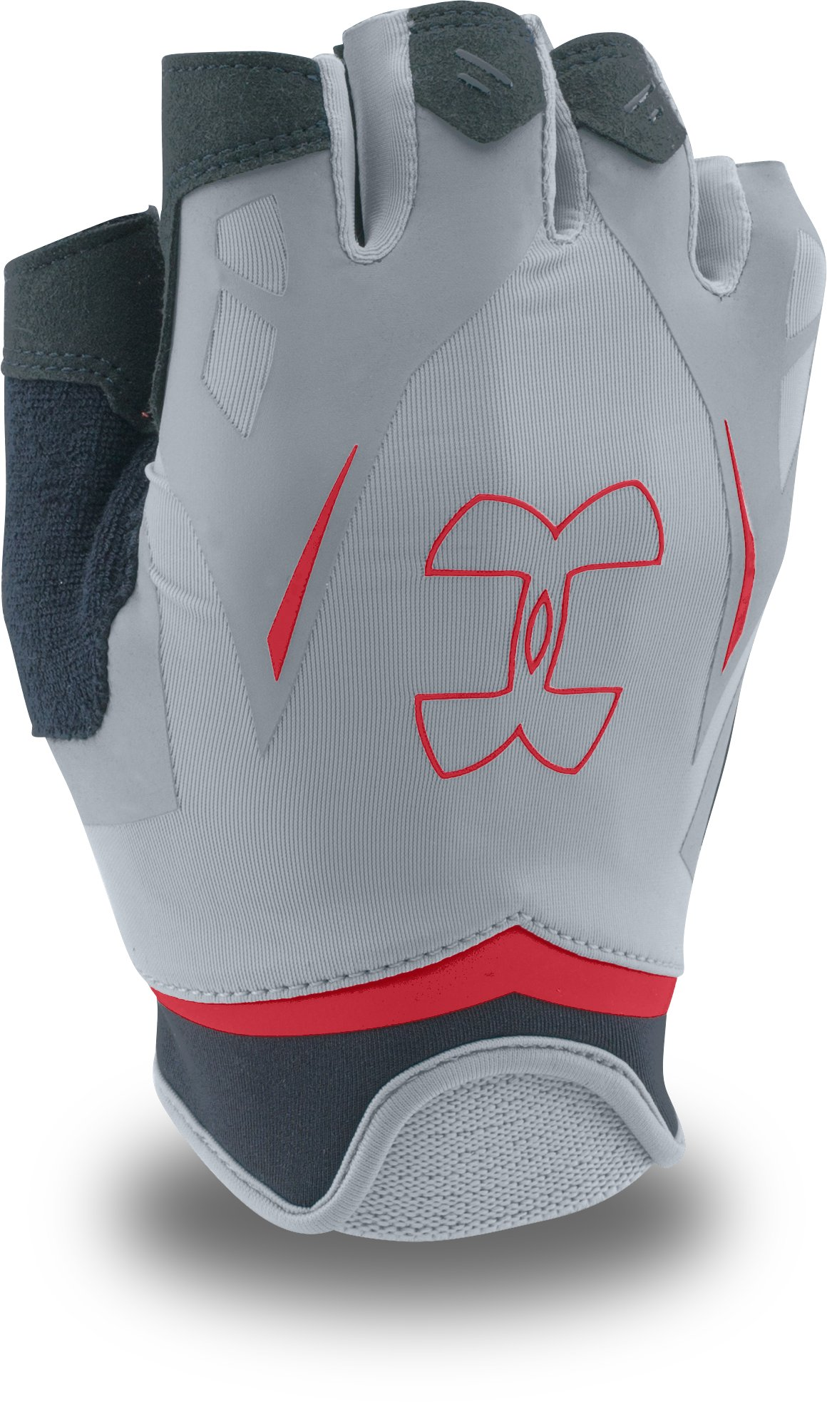 Men's UA Flux Half-Finger Training Gloves, Steel