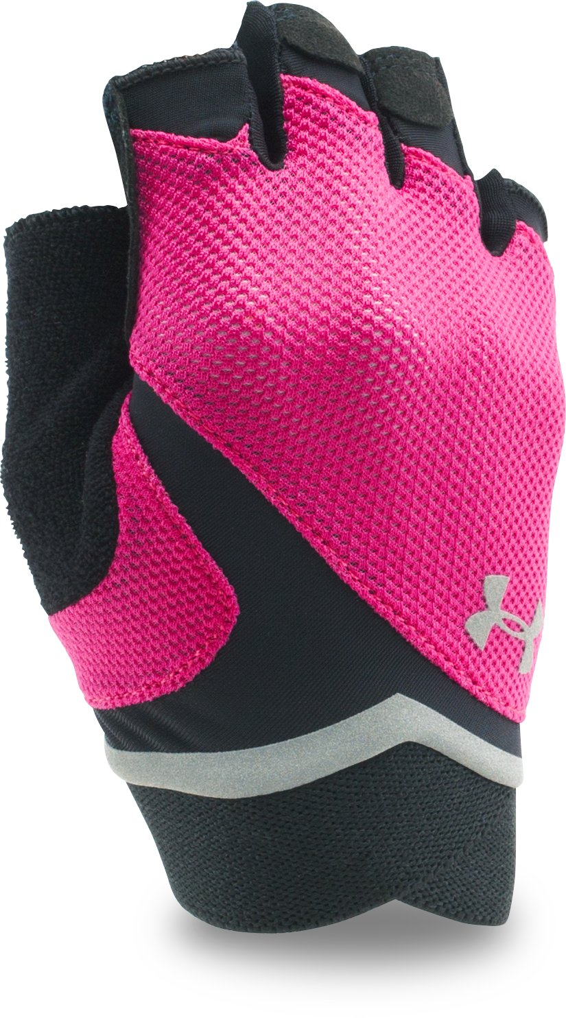 Women's UA Flux Gloves, Tropic Pink