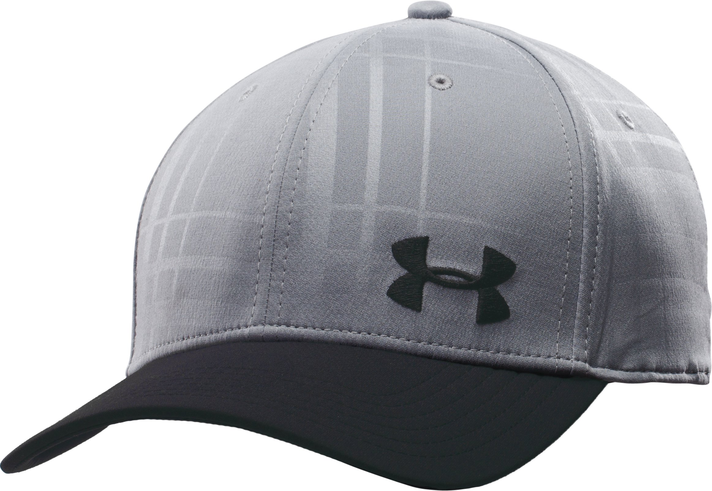 Men's UA Bravo Low Crown Stretch Fit Cap, Steel, zoomed image