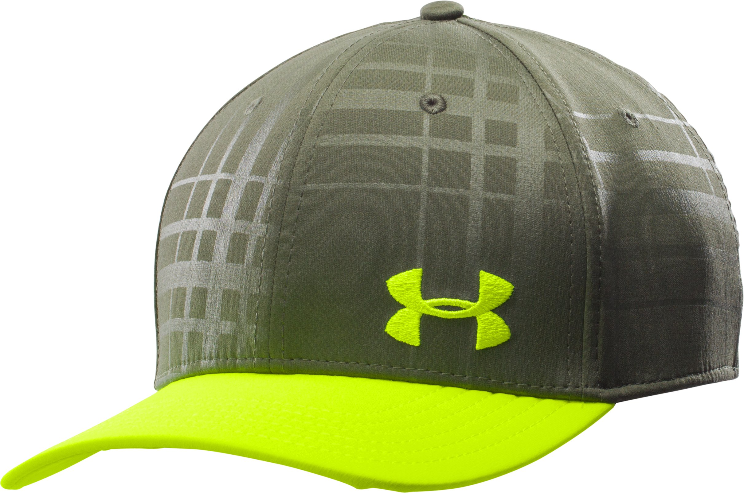 Men's UA Bravo Low Crown Stretch Fit Cap, Rough, zoomed image