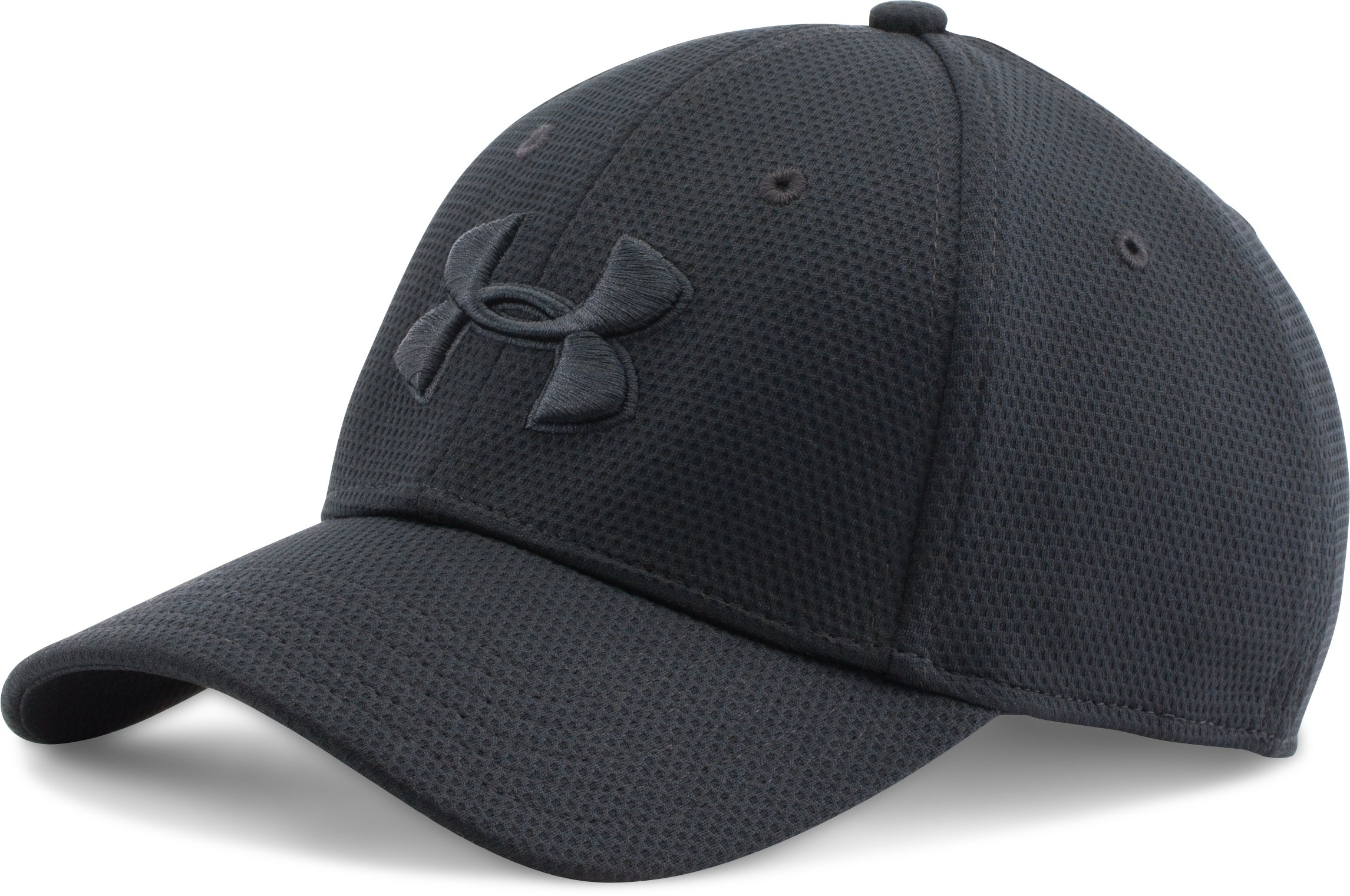 Men's UA Blitzing II Stretch Fit Cap, Black ,